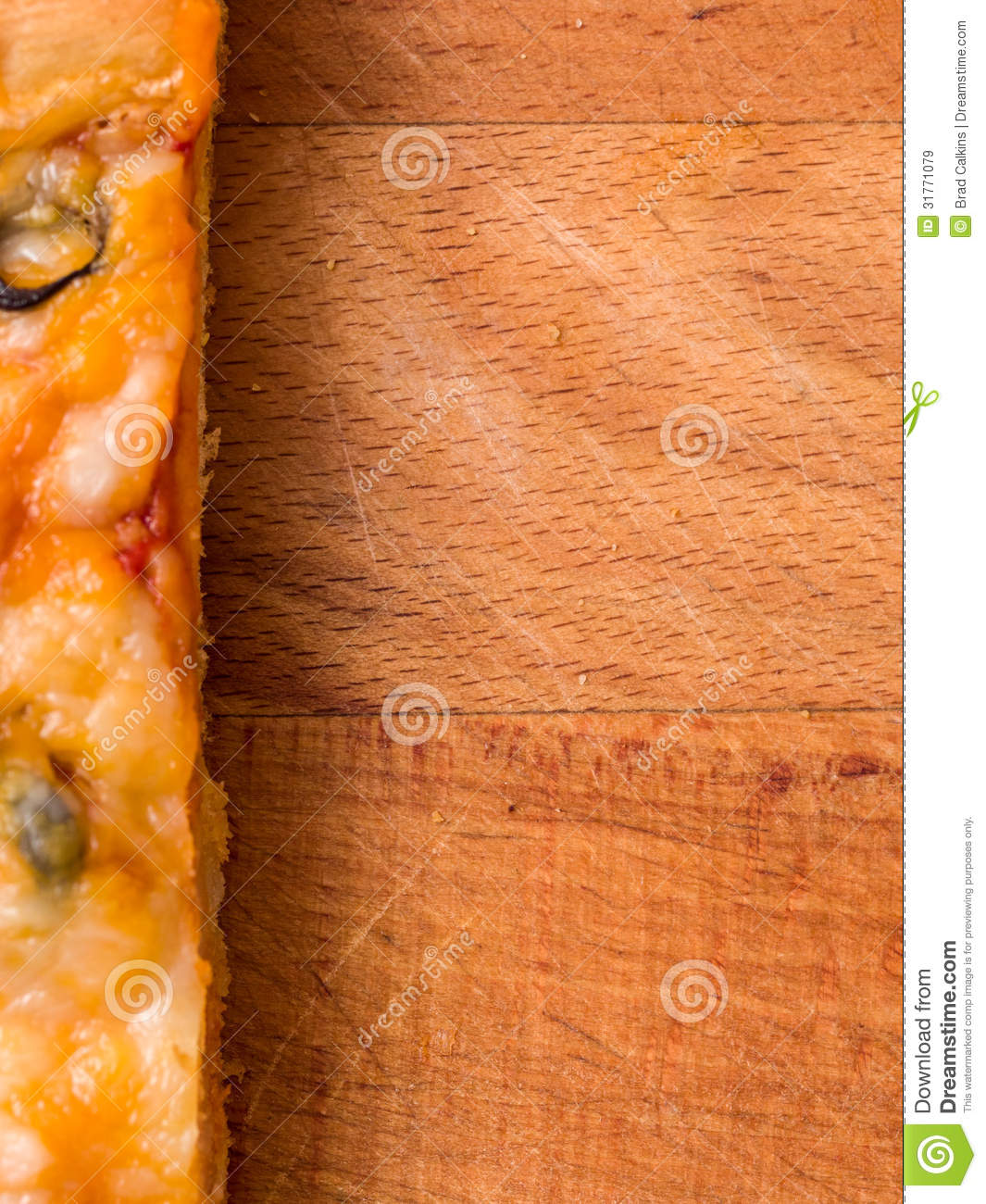Pizza Food Background Stock Image Of Cutting Copy