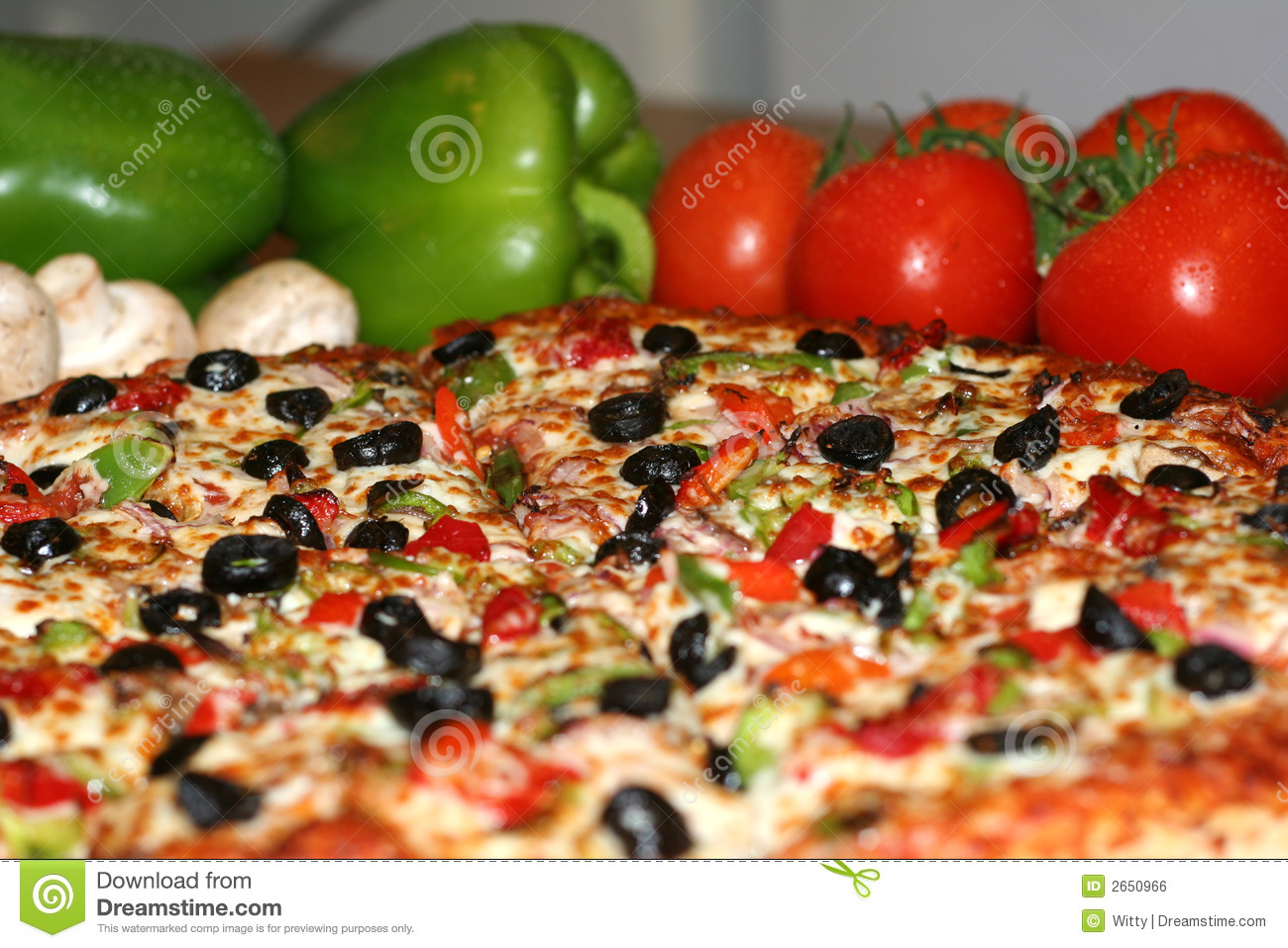 Pizza And Fresh Ingredients Stock Photo - Image: 2650966