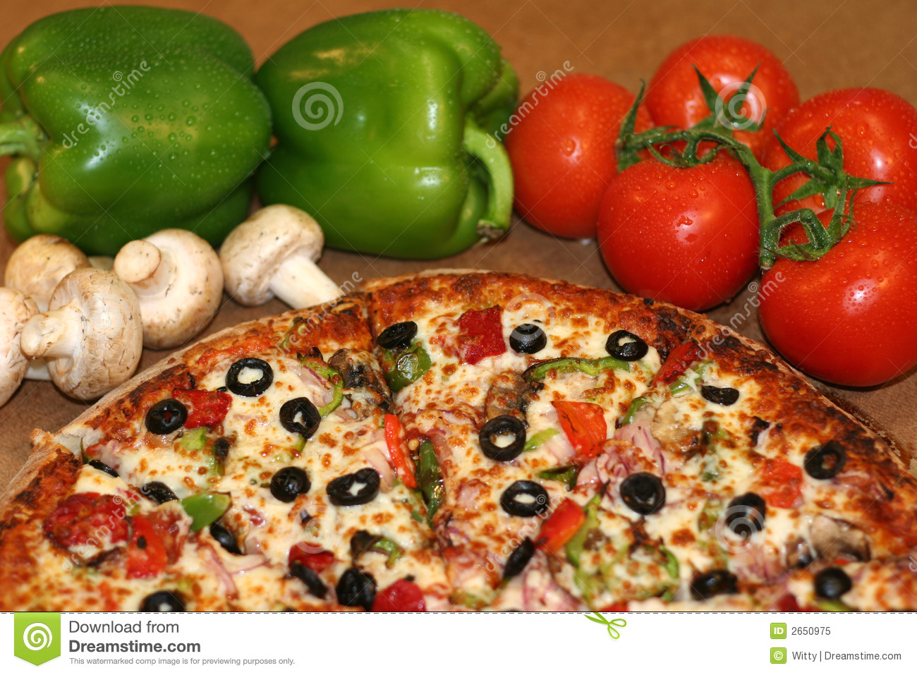Pizza And Fresh Ingredients Stock Image - Image of tomato ...