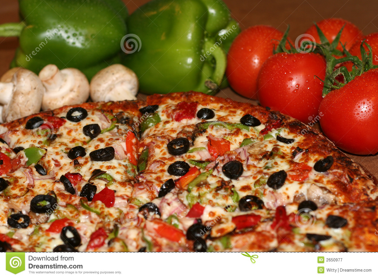 Pizza And Fresh Ingredients Stock Image - Image: 2650977