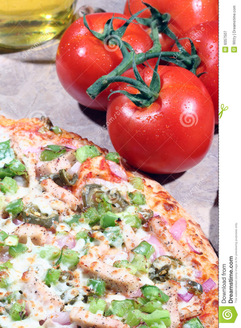 Pizza With Fresh Toppings Royalty Free Stock Photography ...