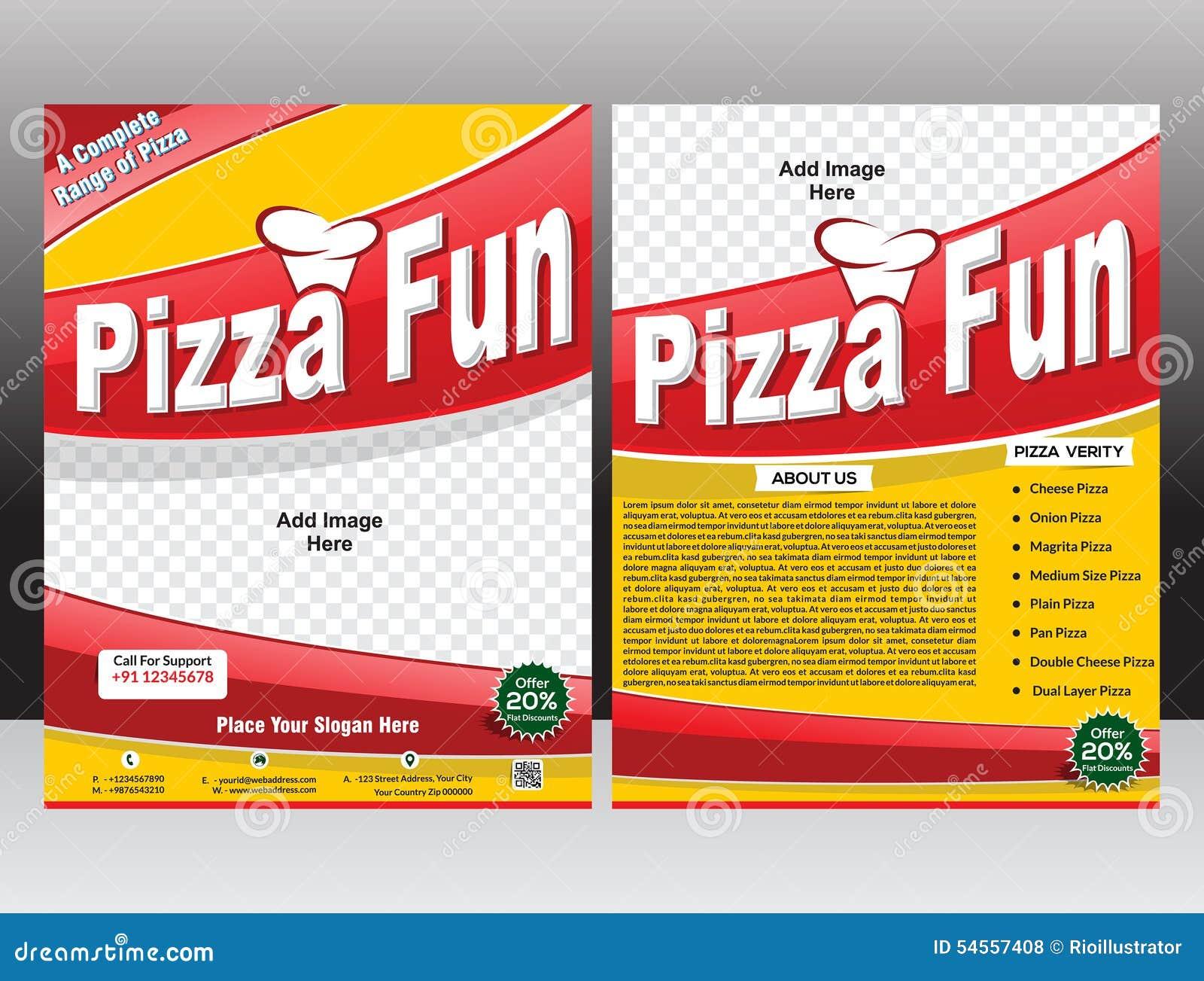 Pizza Fun Flyer & Magazine Design Stock Vector - Image: 54557408