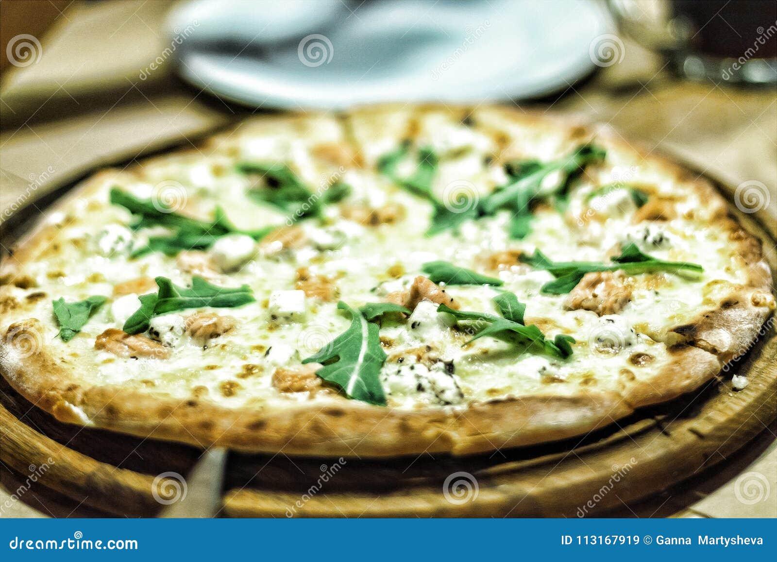 Pizza, geschmackvoll, Lebensmittel, Lachs, köstlich, Abendessen, Mittagessen, Teig, aru