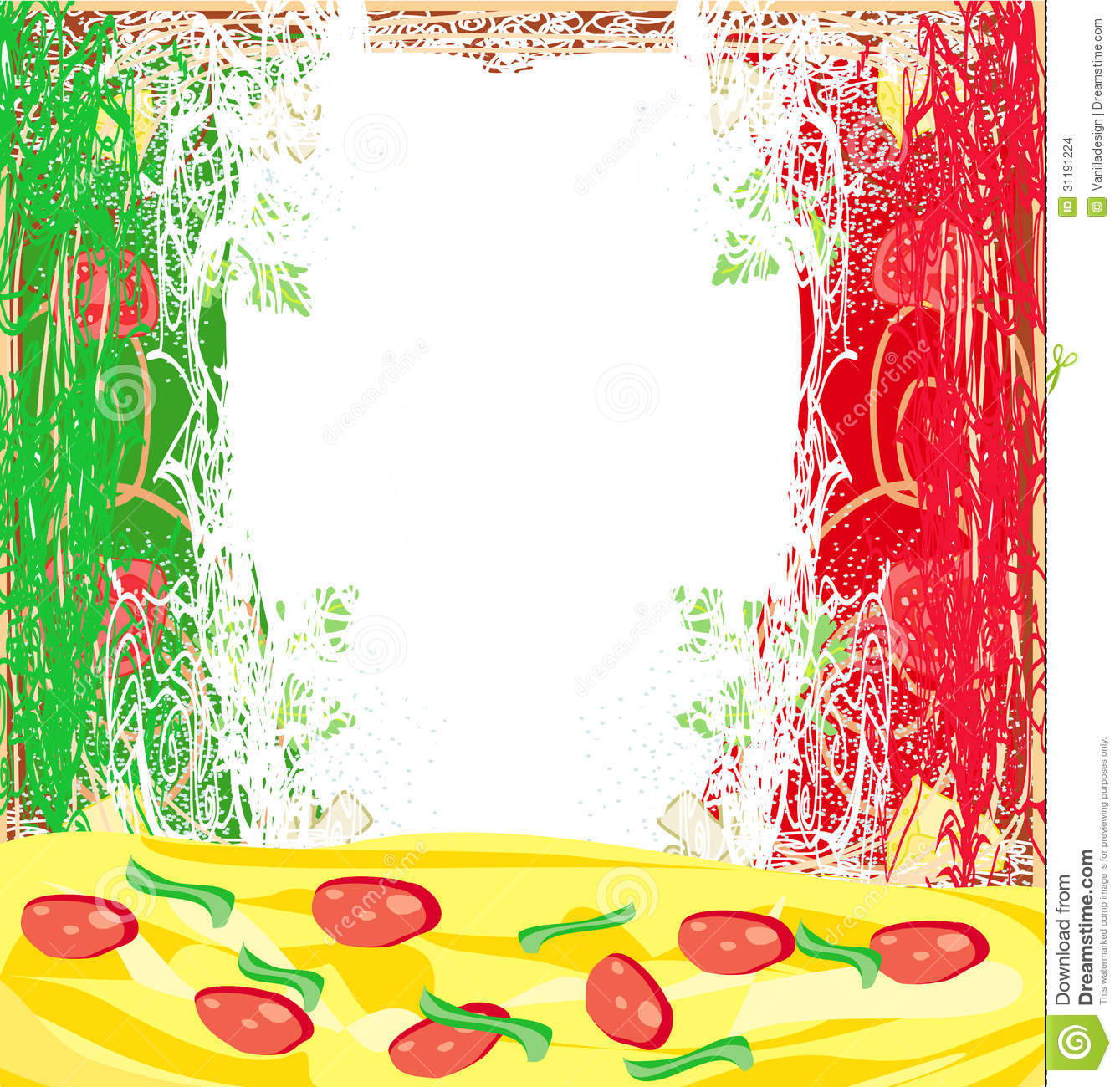 Pizza Grunge Background Design Stock Images - Image: 31191224