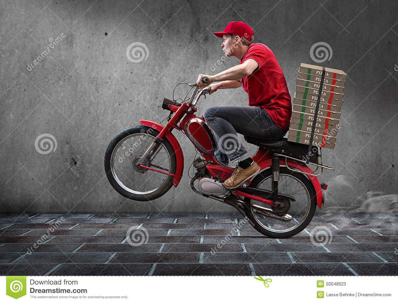 Pizza Guy stock image. Image of supply, bring, food, crazy ...