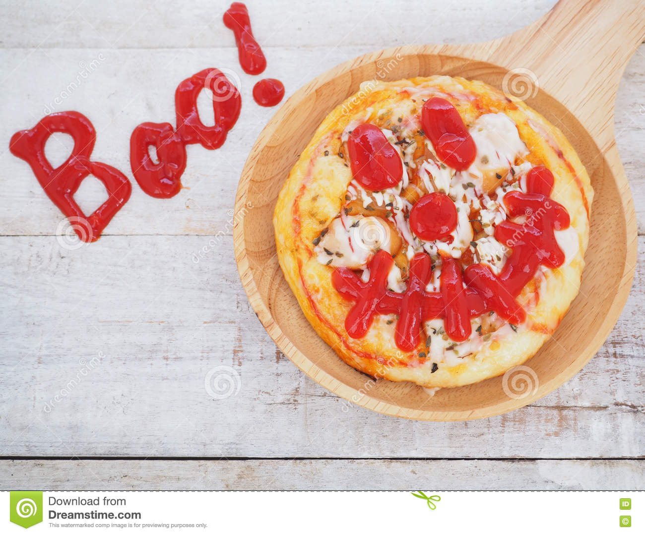 Pizza For Halloween Party. Stock Photo - Image: 77801140