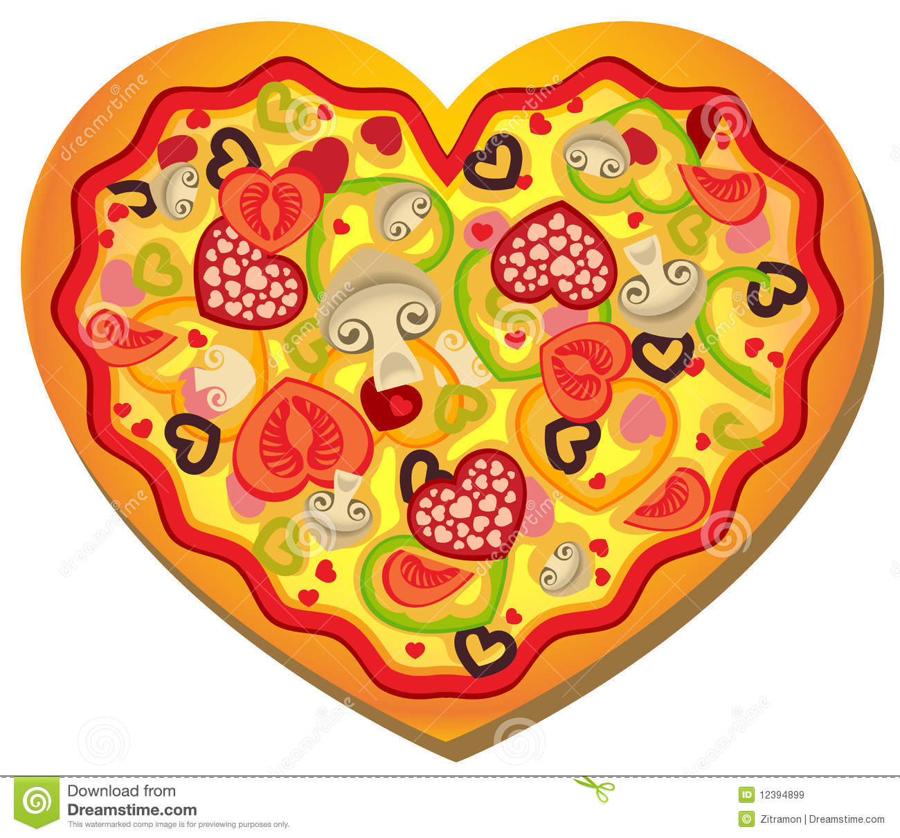 Pizza Heart-Shaped