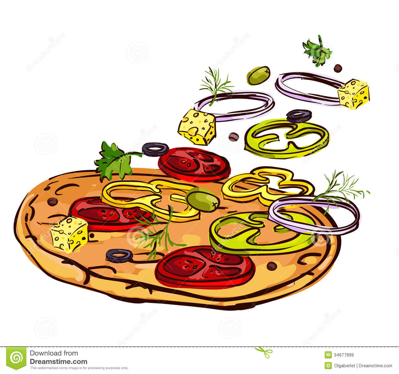 cheese pizza clipart free - photo #50