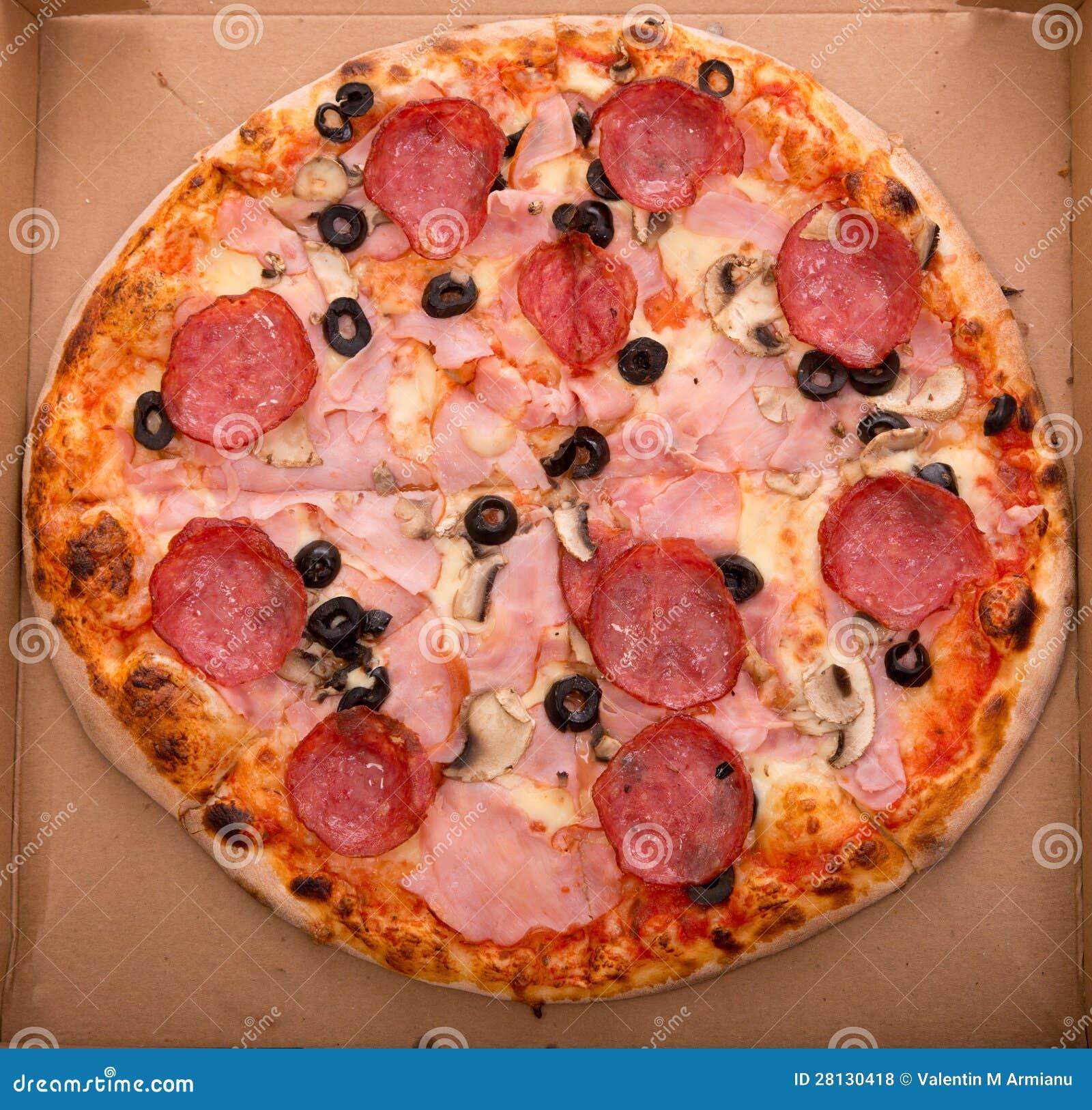 Pizza im Kasten