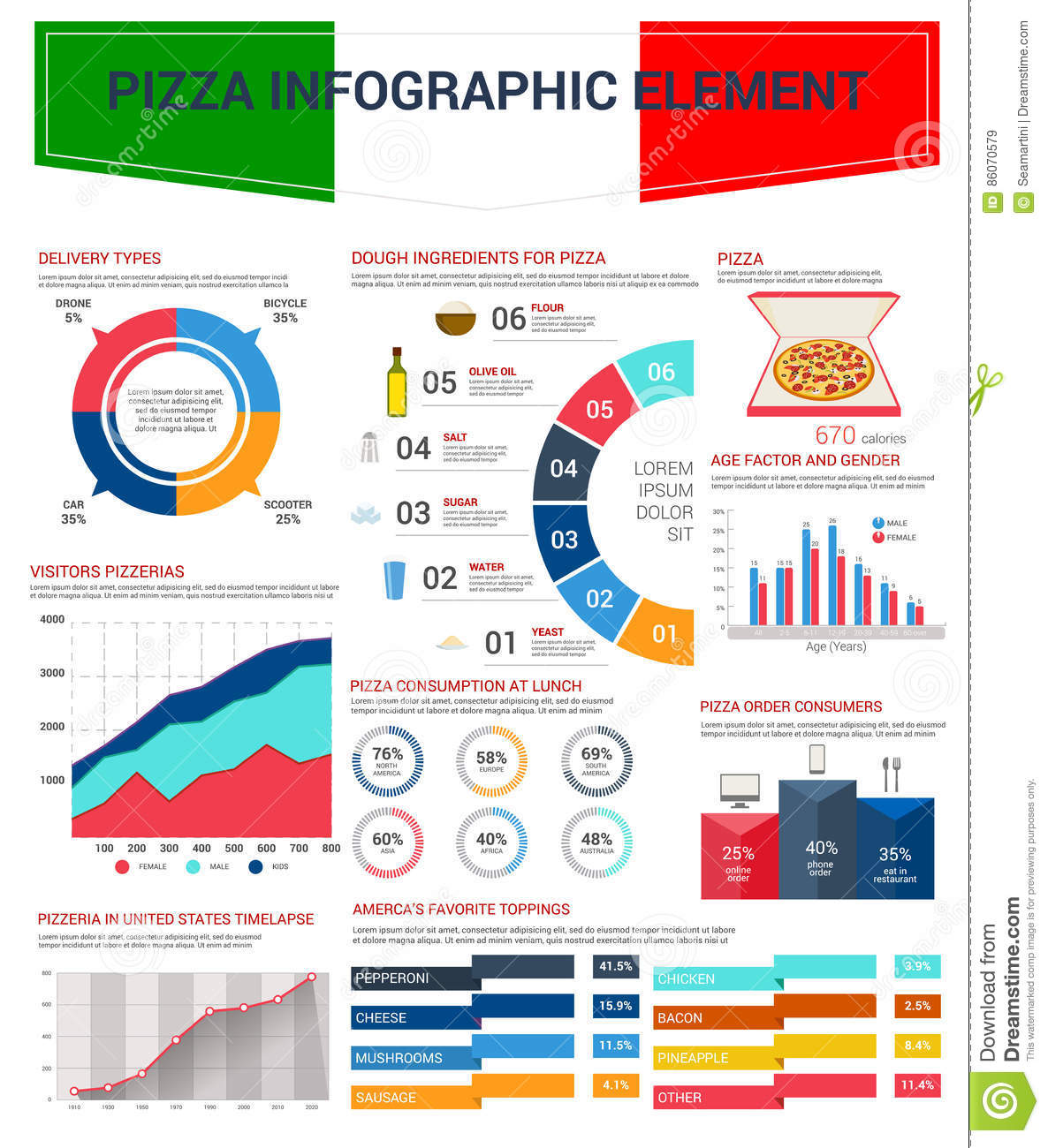Pizza infographic elements for fast food design stock vector download pizza infographic elements for fast food design stock vector illustration of info cheese ccuart Gallery