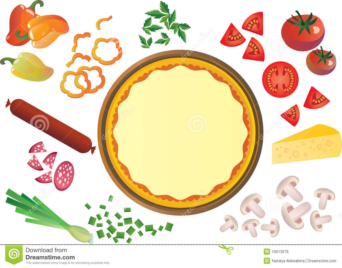 Pizza Ingredients Royalty Free Stock Image - Image: 10513076