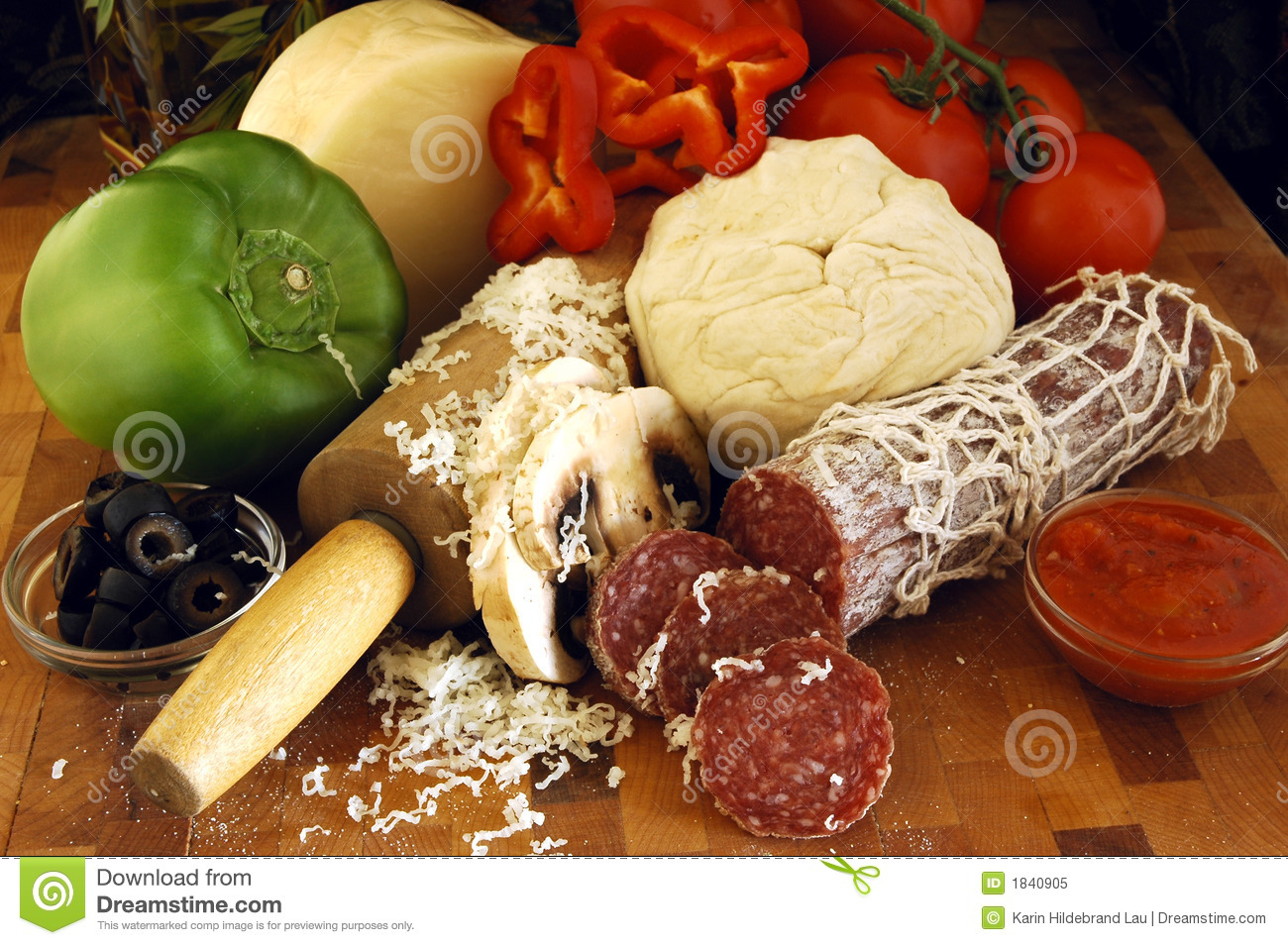 Pizza Ingredients Royalty Free Stock Photo - Image: 1840905
