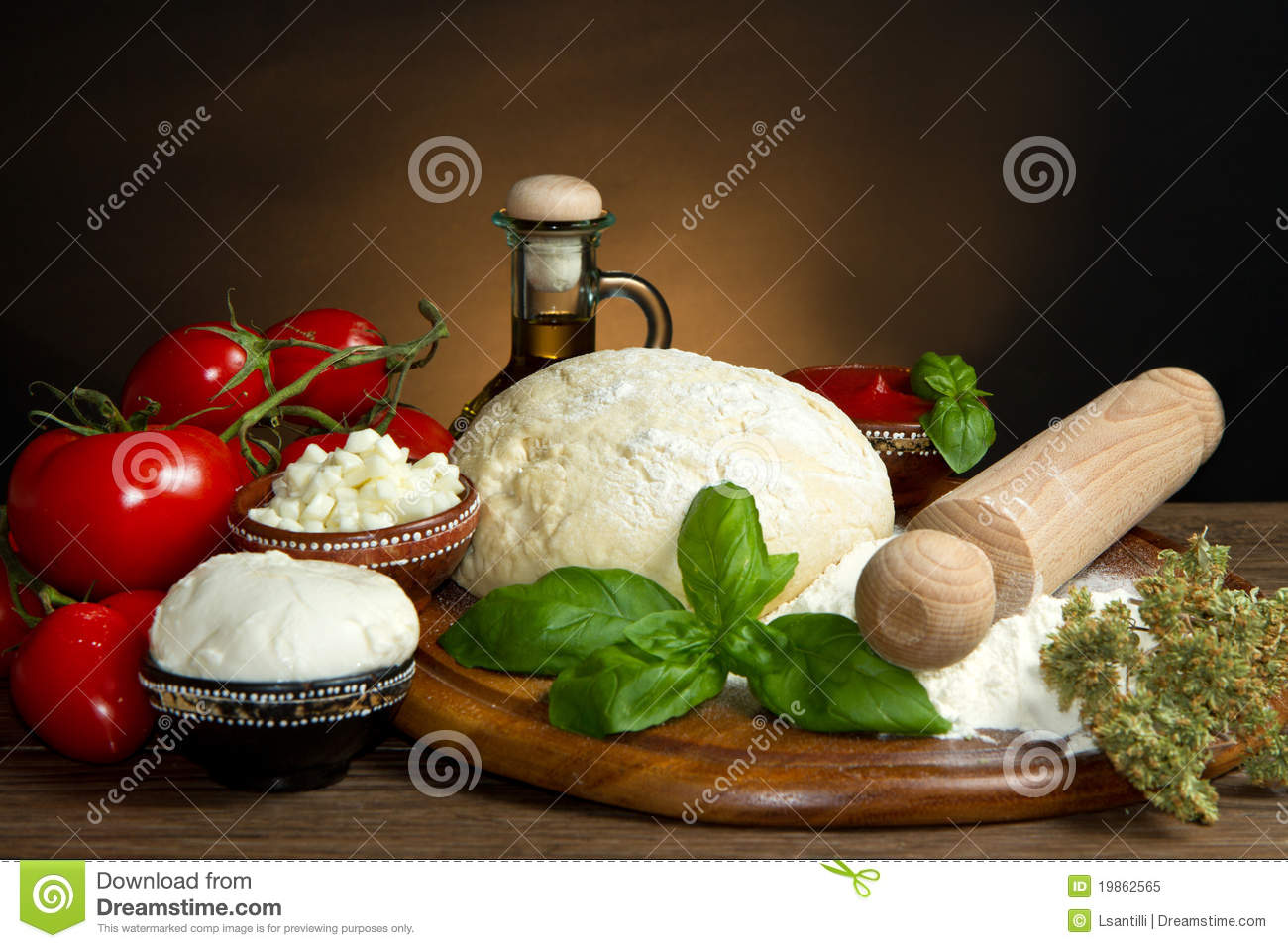 Pizza Ingredients Royalty Free Stock Photo - Image: 19862565