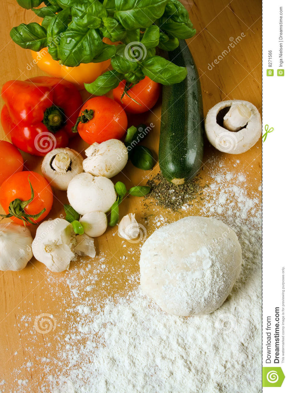 Pizza Ingredients Royalty Free Stock Image - Image: 8271566