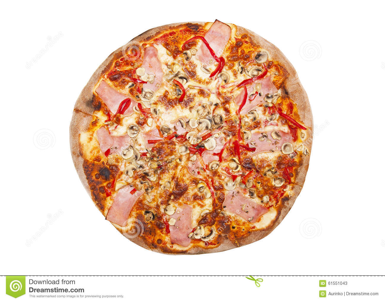 Pizza isolated on the white background.