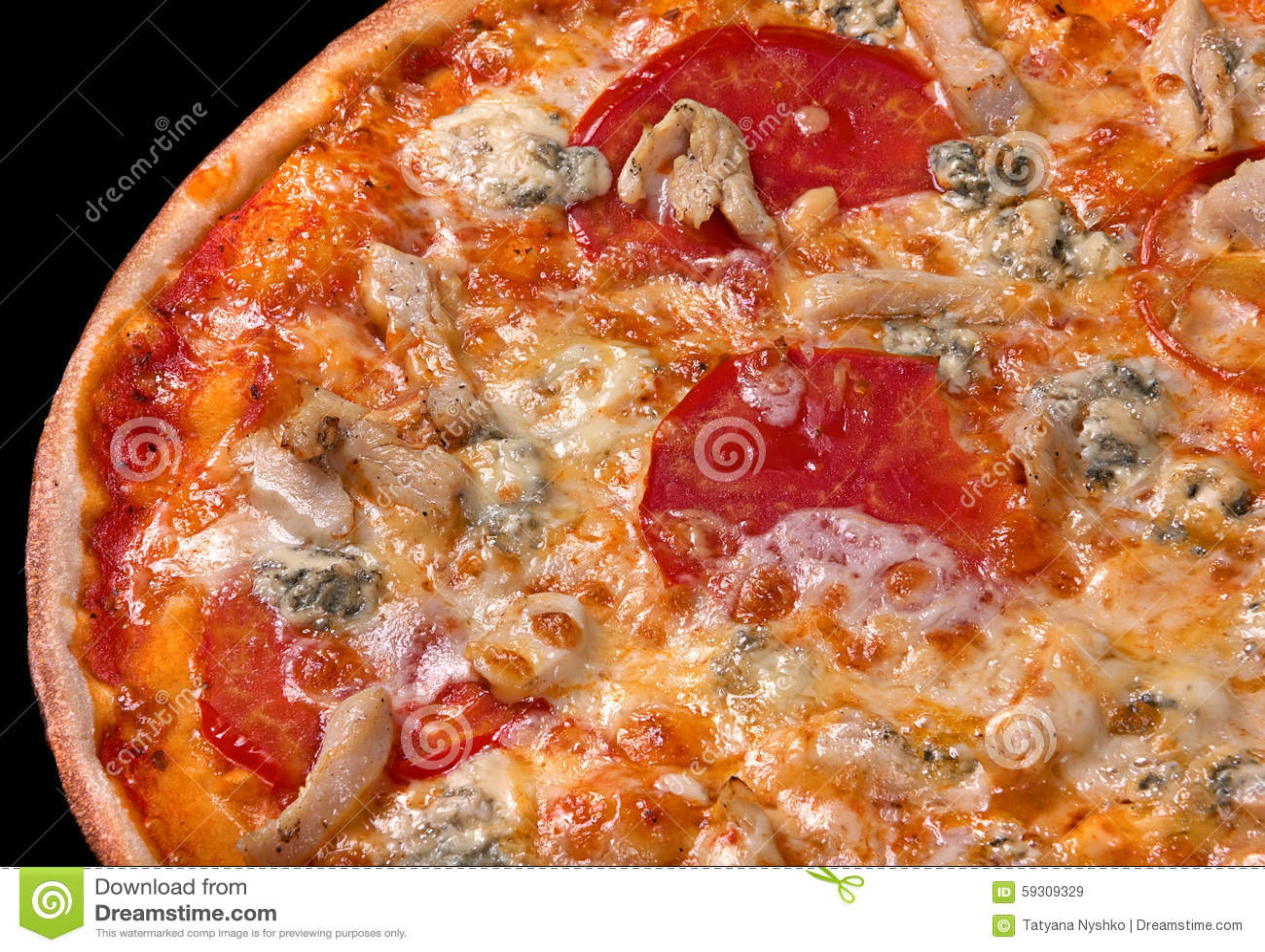 pizza italienne de nourriture avec du fromage dorblu photo stock image 59309329. Black Bedroom Furniture Sets. Home Design Ideas