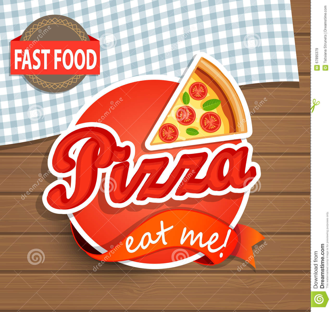 Pizza Label and Sign.