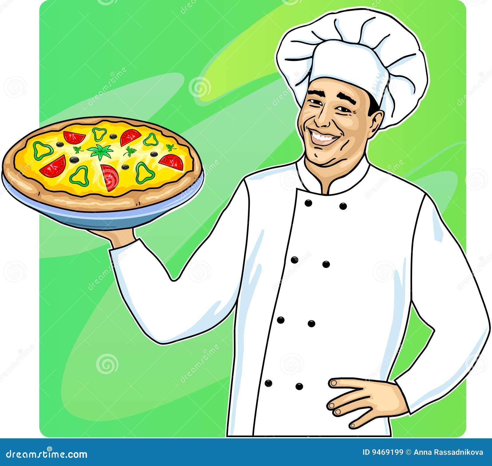 pizza man royalty free stock images image 9469199. Black Bedroom Furniture Sets. Home Design Ideas