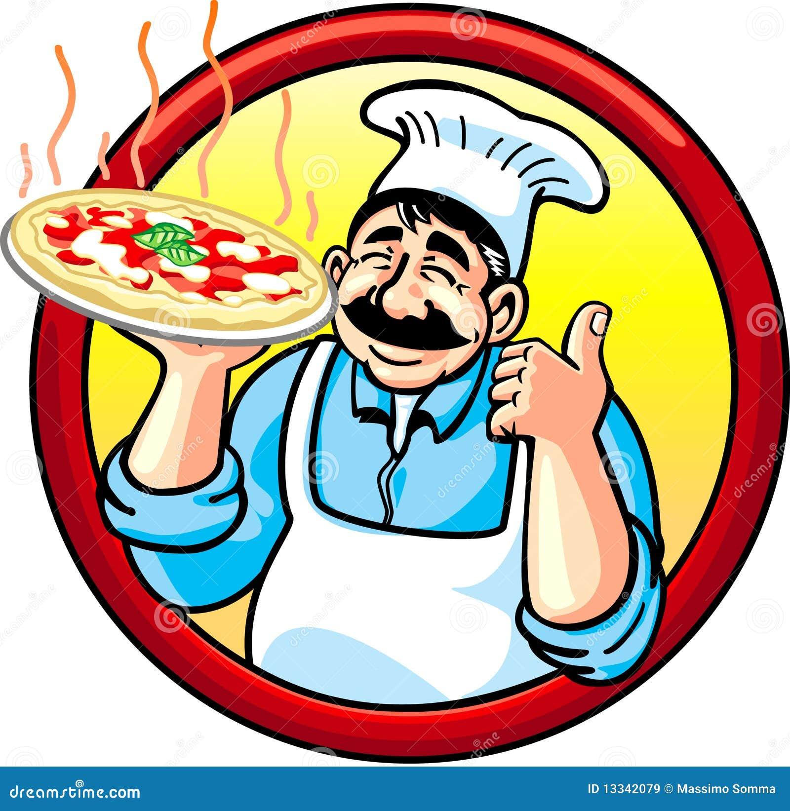 pizza mann lizenzfreie stockbilder bild 13342079. Black Bedroom Furniture Sets. Home Design Ideas