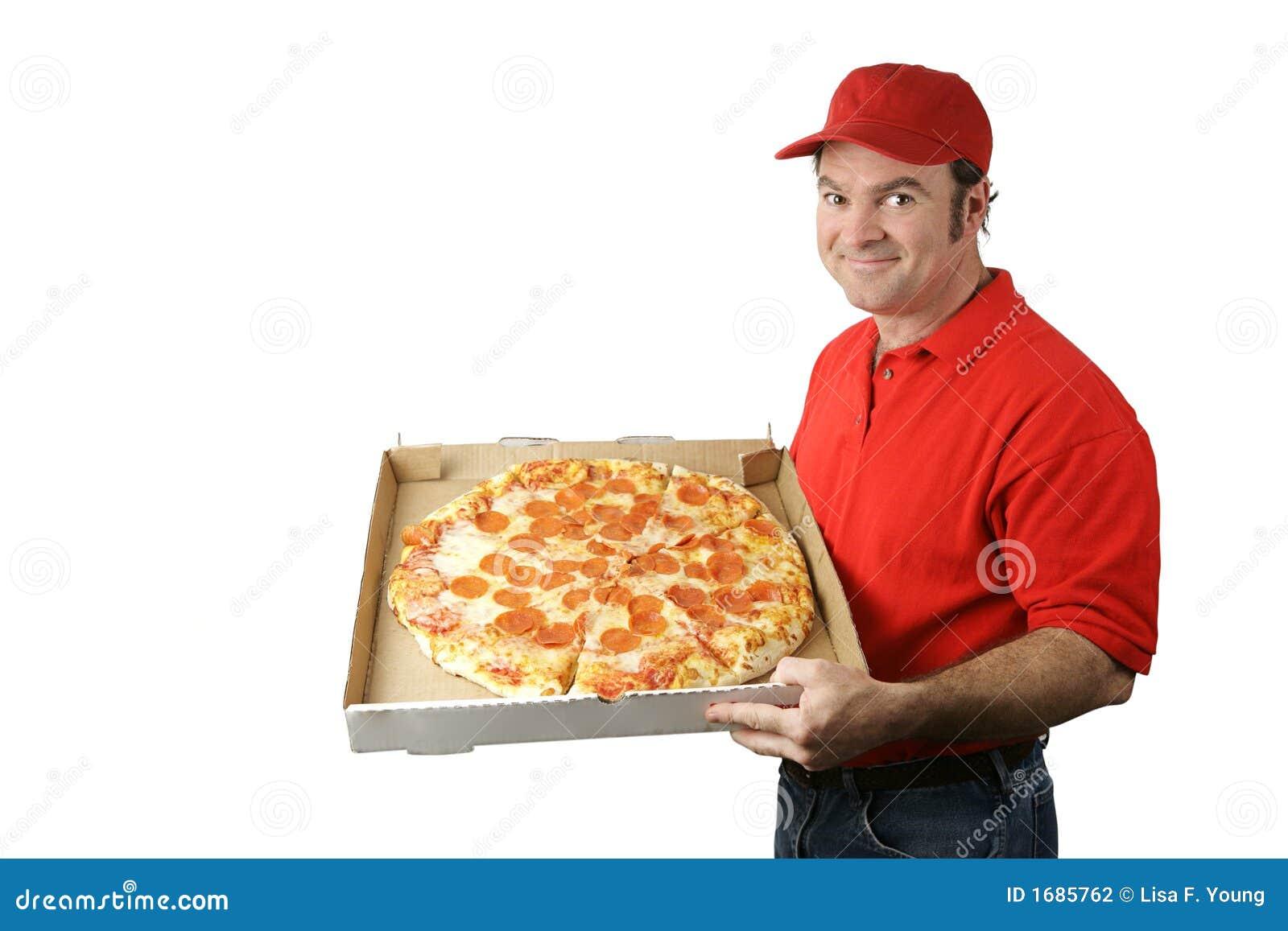 pizza mann liefert stockfoto bild von leute mann hilfe 1685762. Black Bedroom Furniture Sets. Home Design Ideas