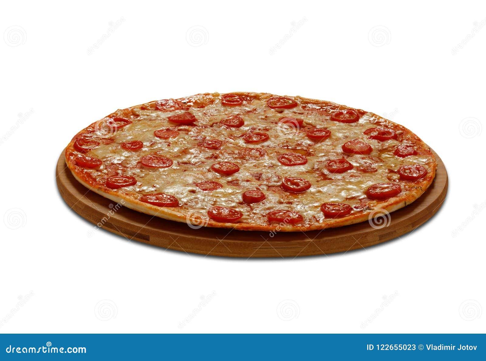 Pizza Margarita Auf weißem Hintergrund