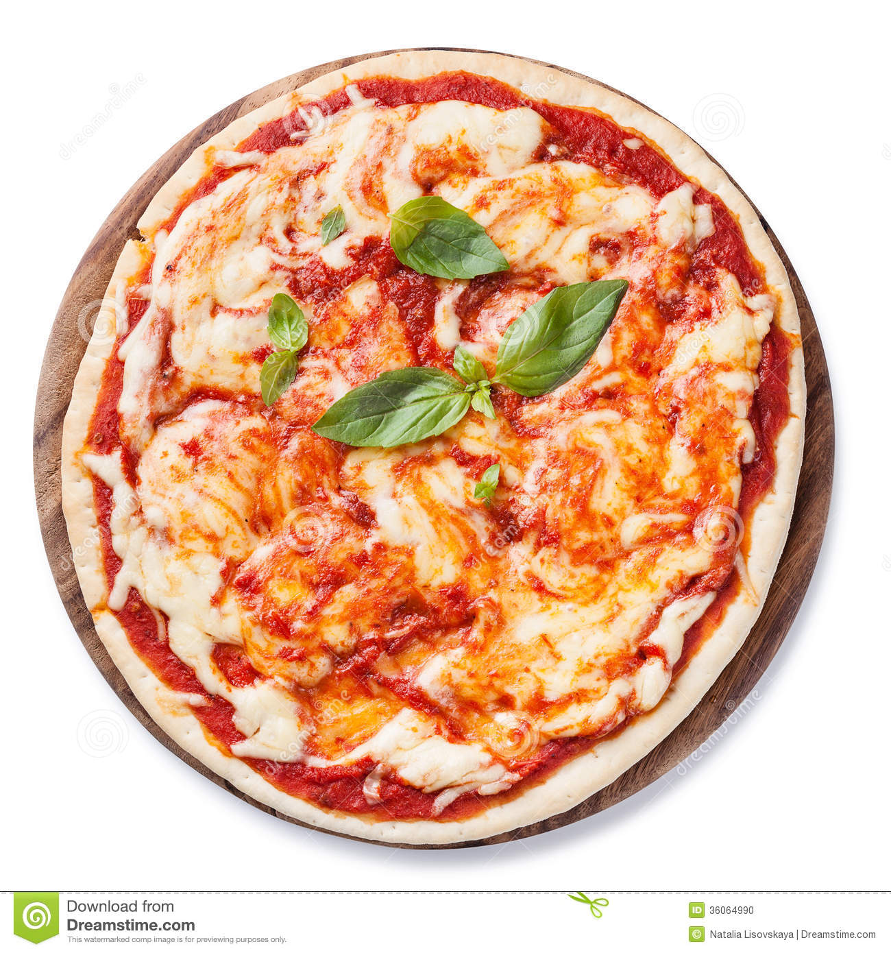 Pizza Margarita Stock Photo Image 36064990