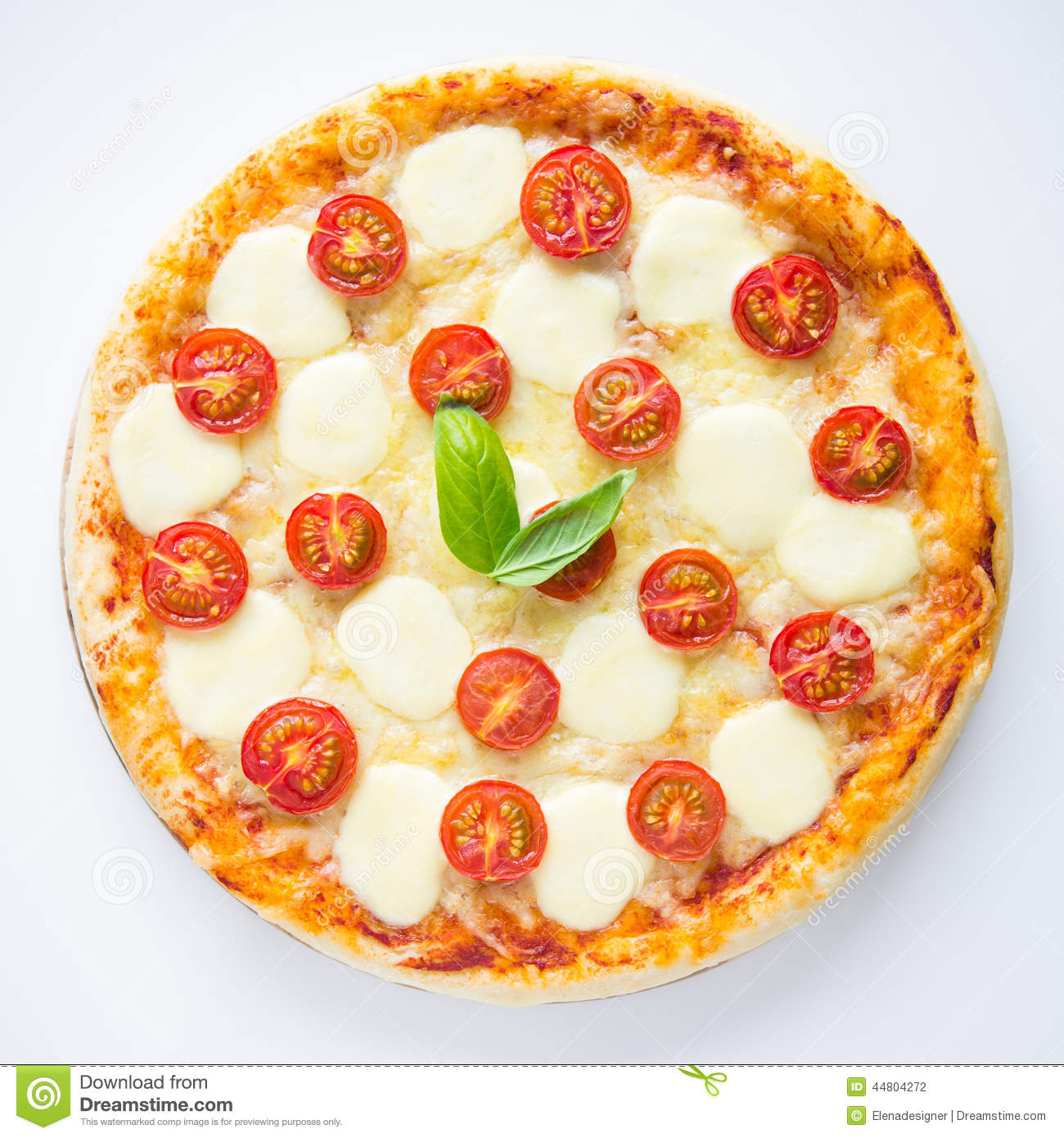 Pizza Margherita Stock Photo Image Of Bakery Herbs