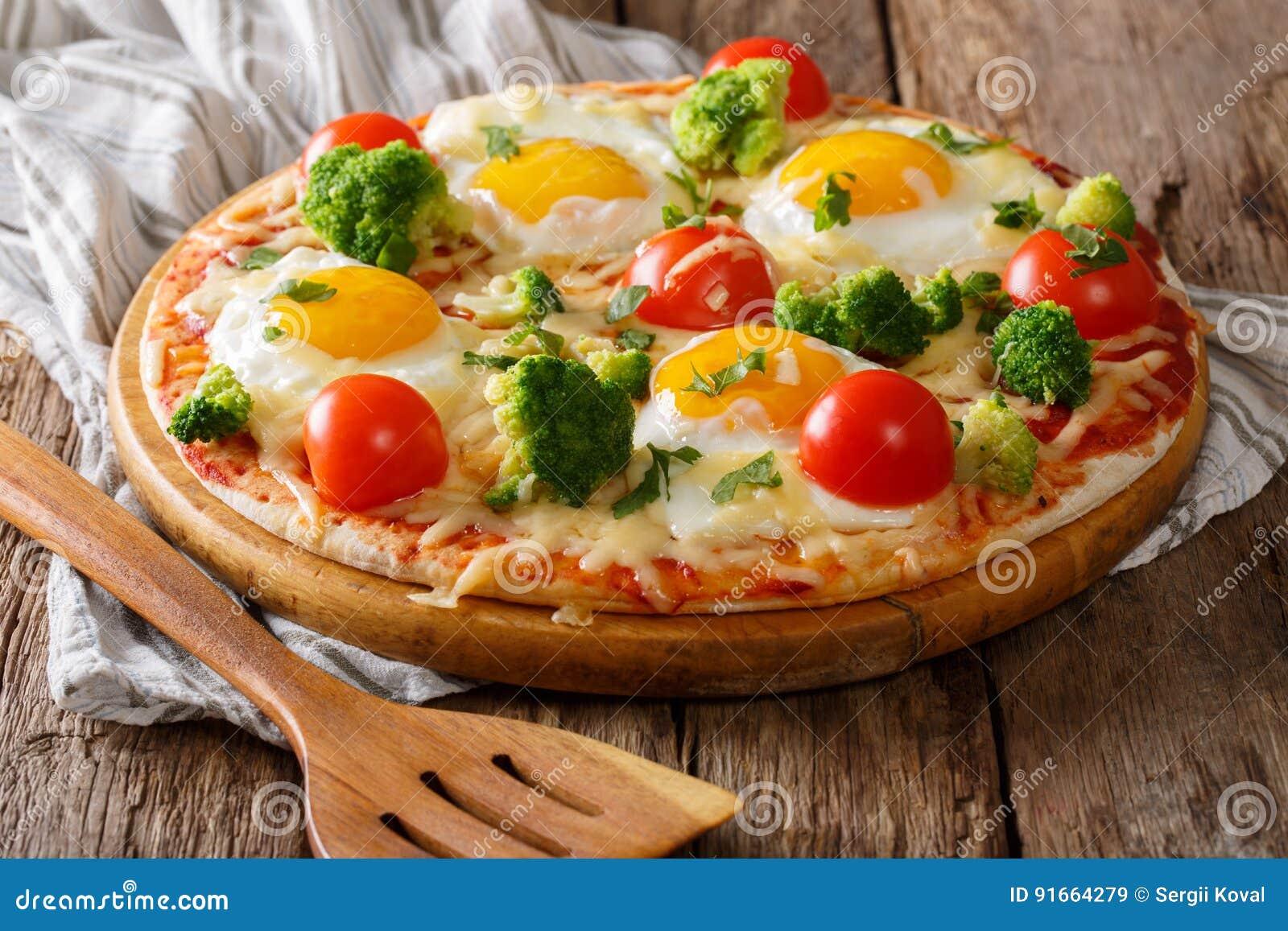 pizza med ägg