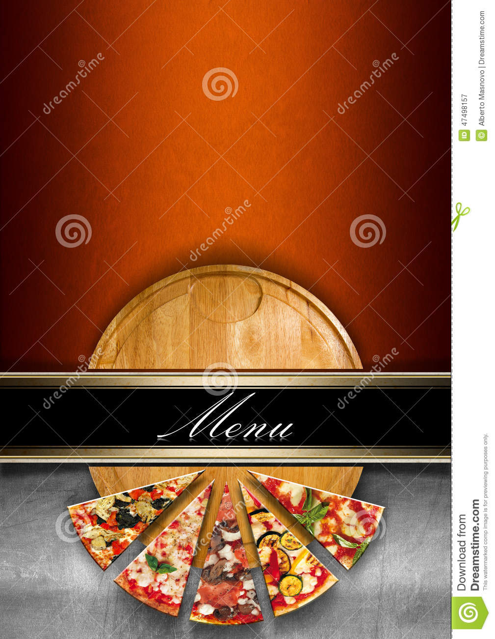 Pizza Menu Design Template