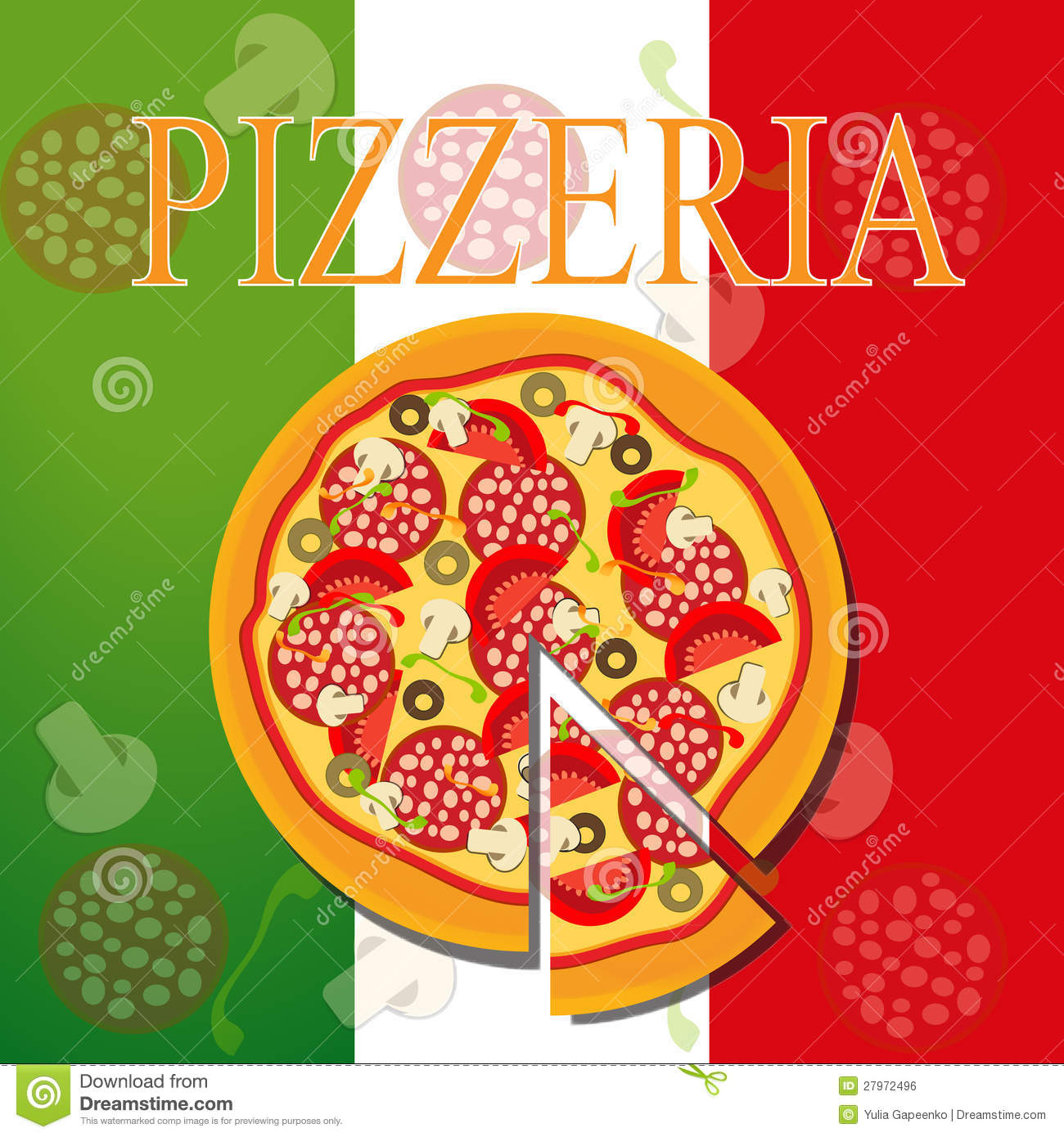 Pizza Menu Template, Vector Illustration Stock Vector ...