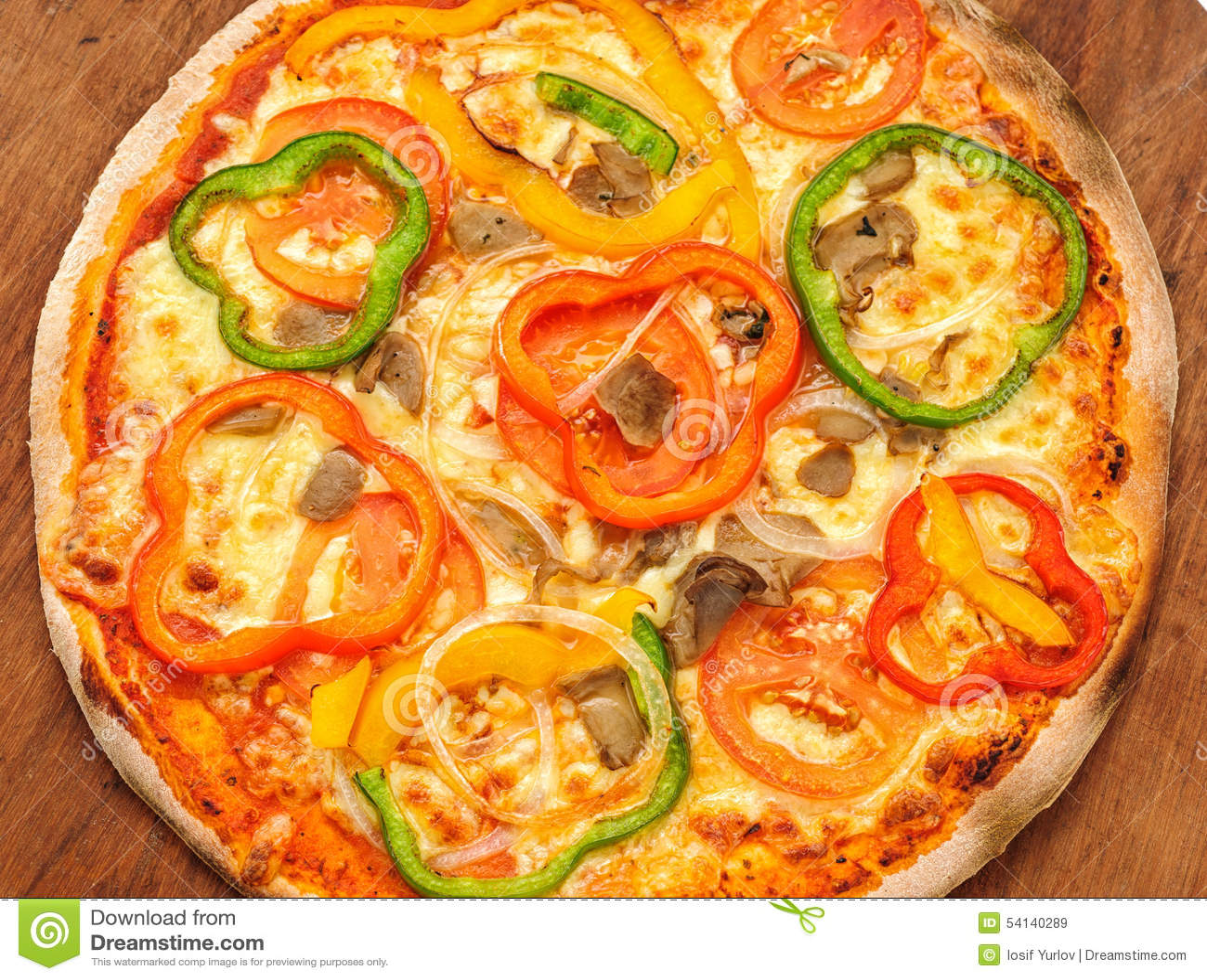 pizza mit dem paprika lokalisiert stockbild bild 54140289. Black Bedroom Furniture Sets. Home Design Ideas