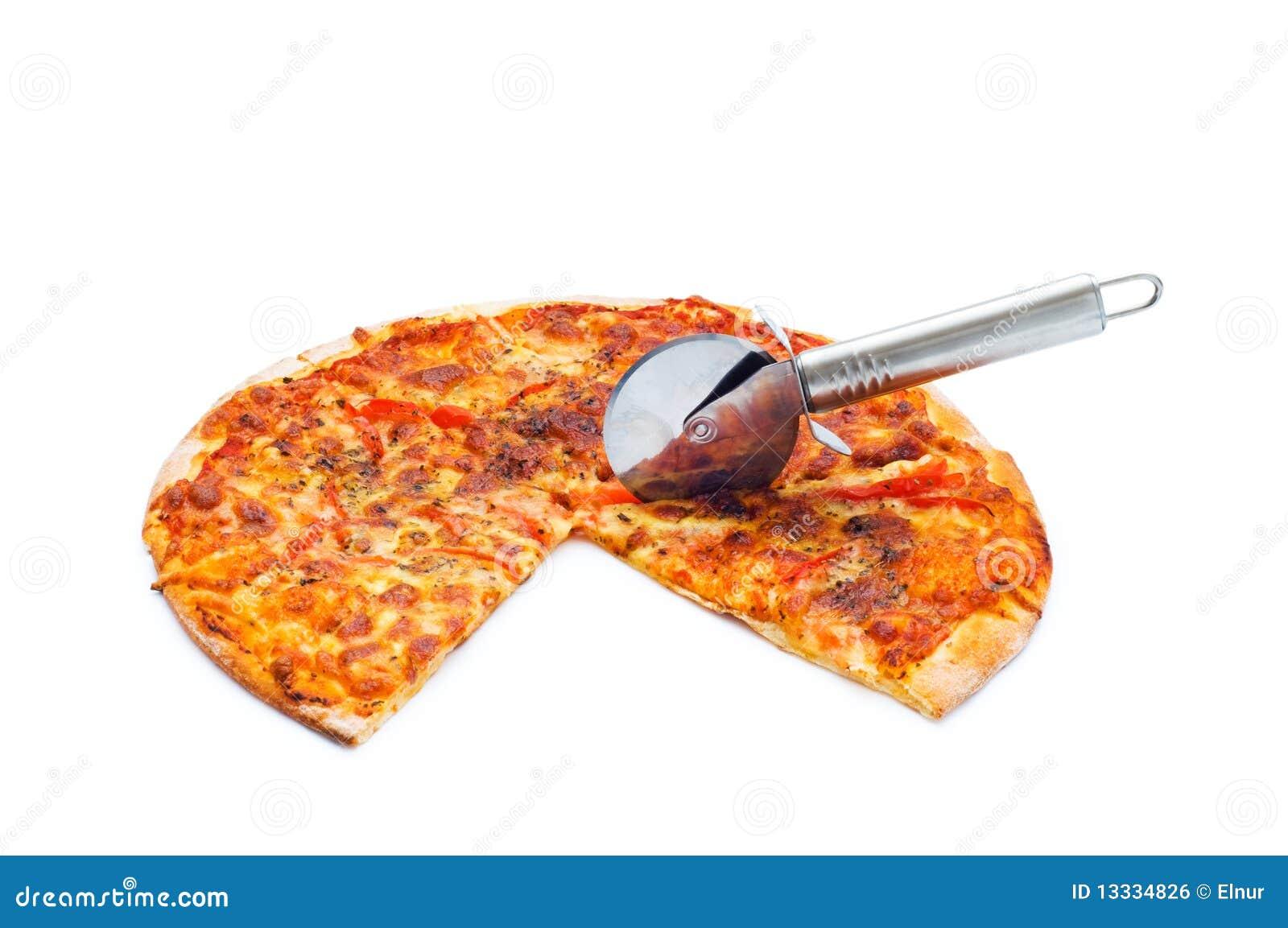 Pizza odizolowywająca na biel