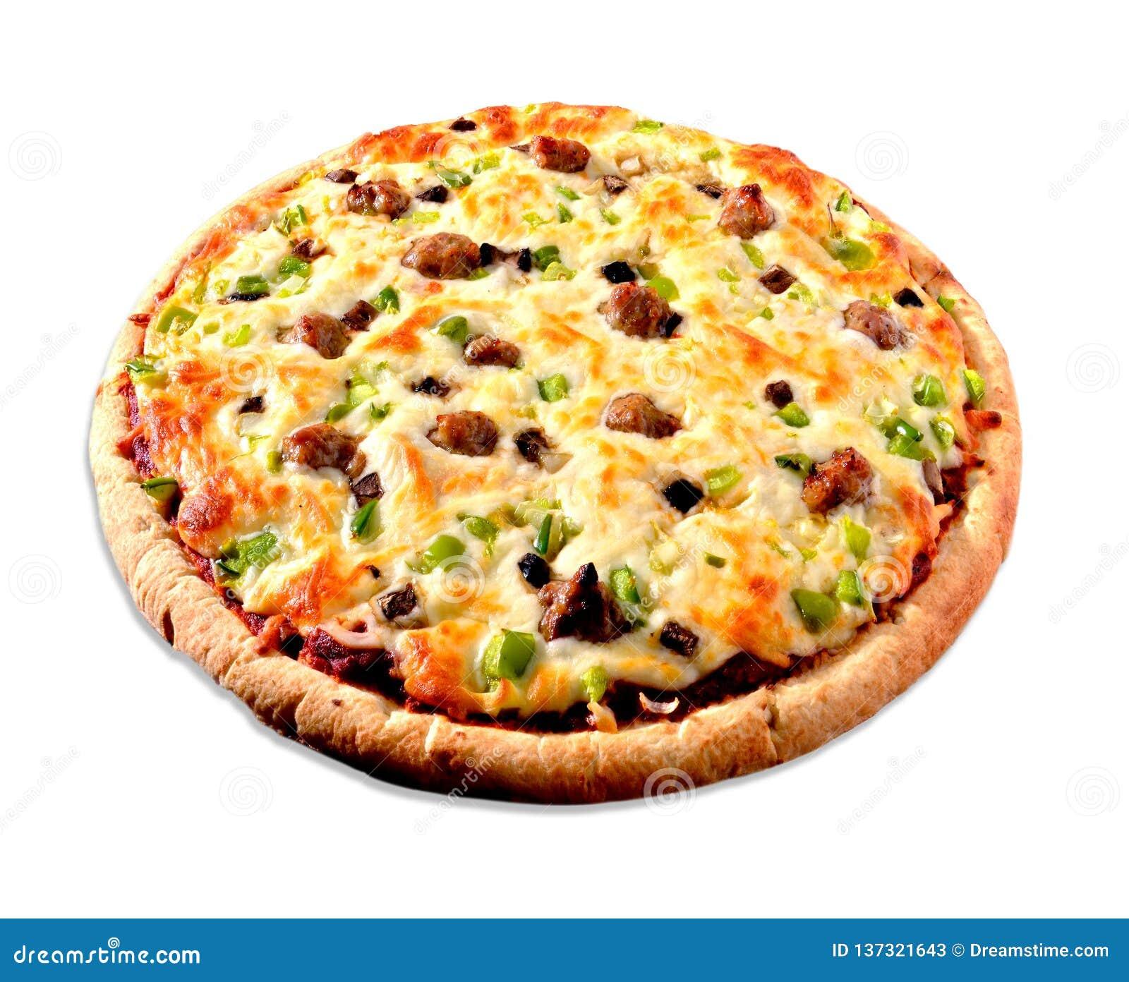 Pizza op wit