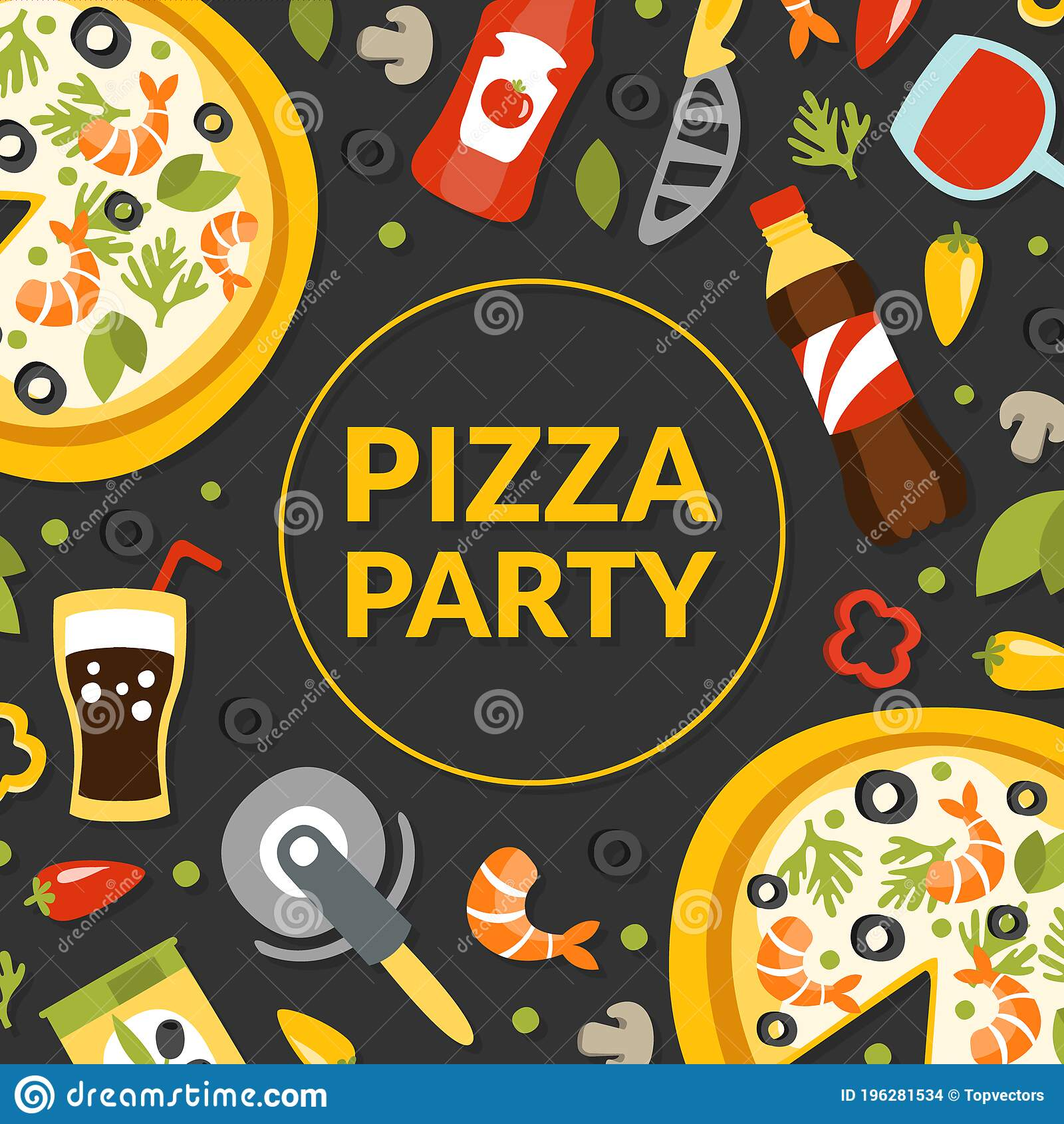 Pizza Party Entrance Banner   Pizza Party Sign