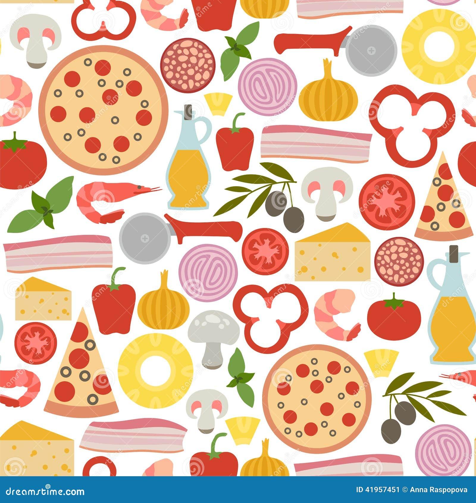pizza pattern stock vector  illustration of cuisine