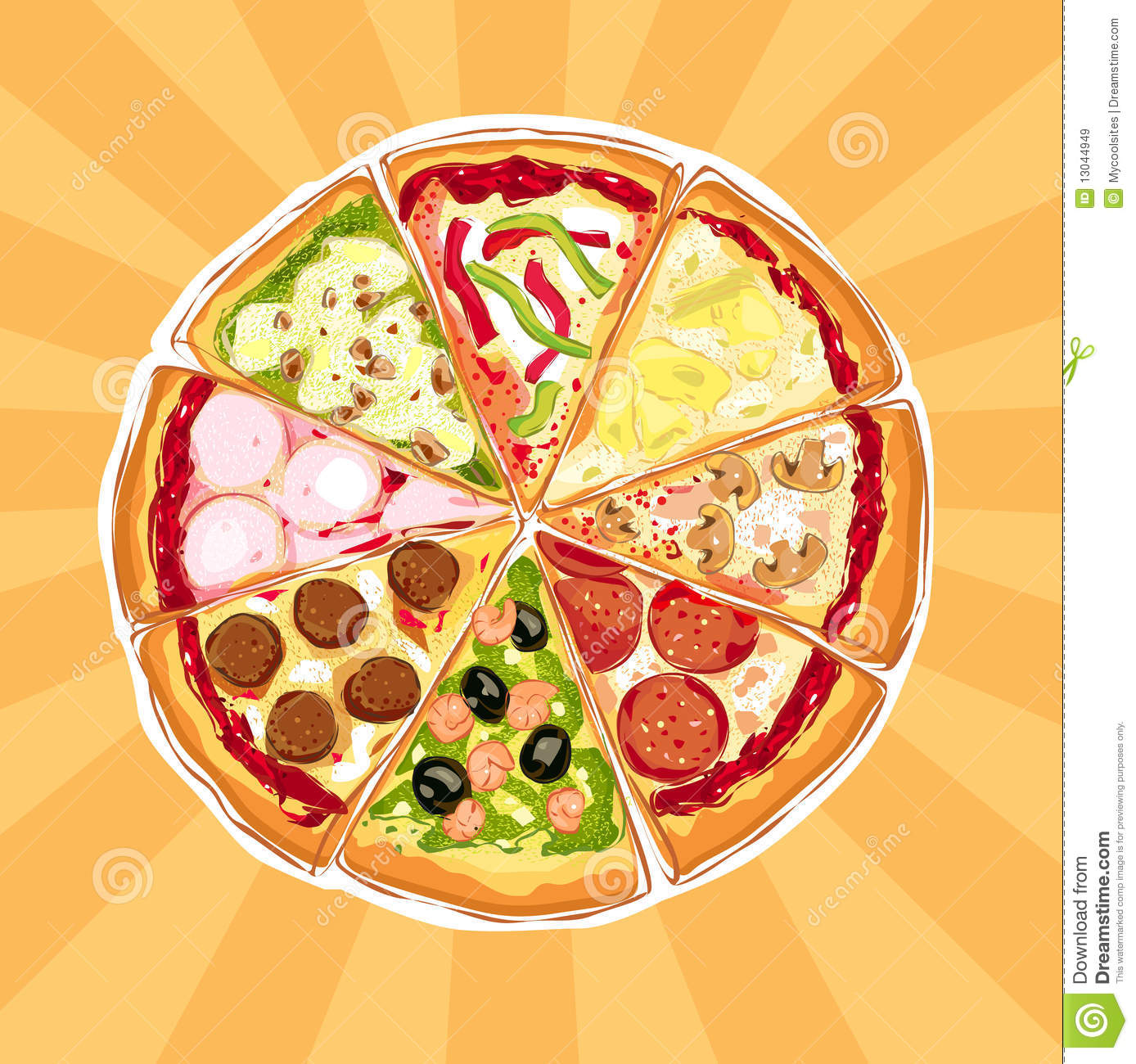 Pizza Pie Royalty Free Stock Images Image 13044949