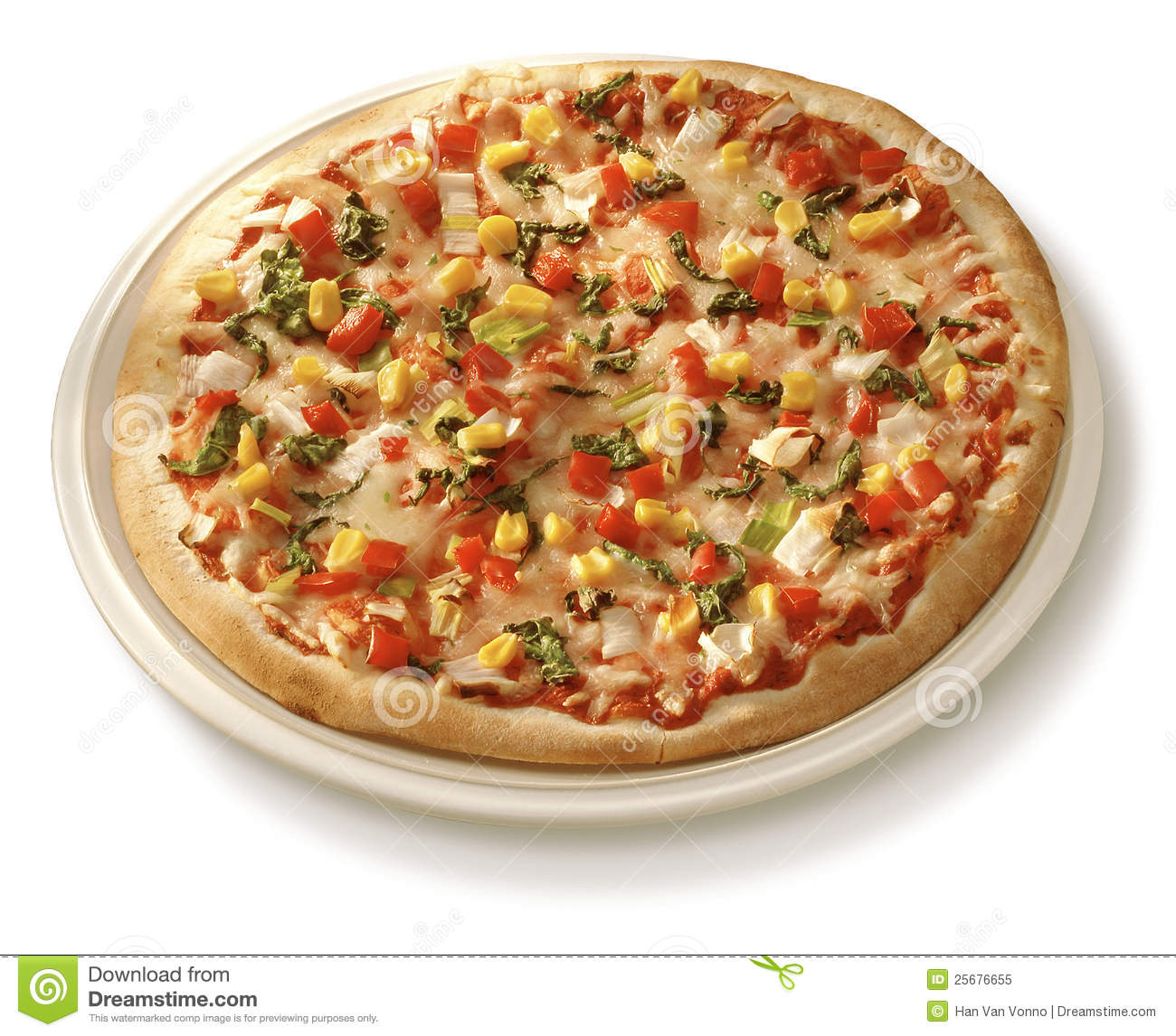 Pizza on plate royalty free stock photo image 25676655 for Table a pizza