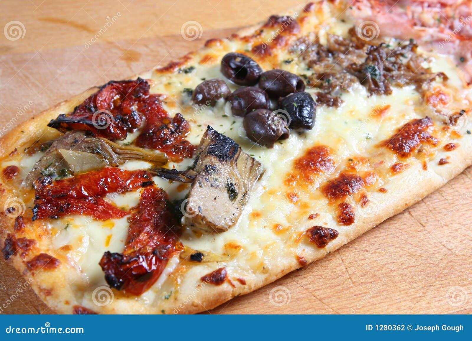 pizza quattro stagioni stock photography image 1280362. Black Bedroom Furniture Sets. Home Design Ideas