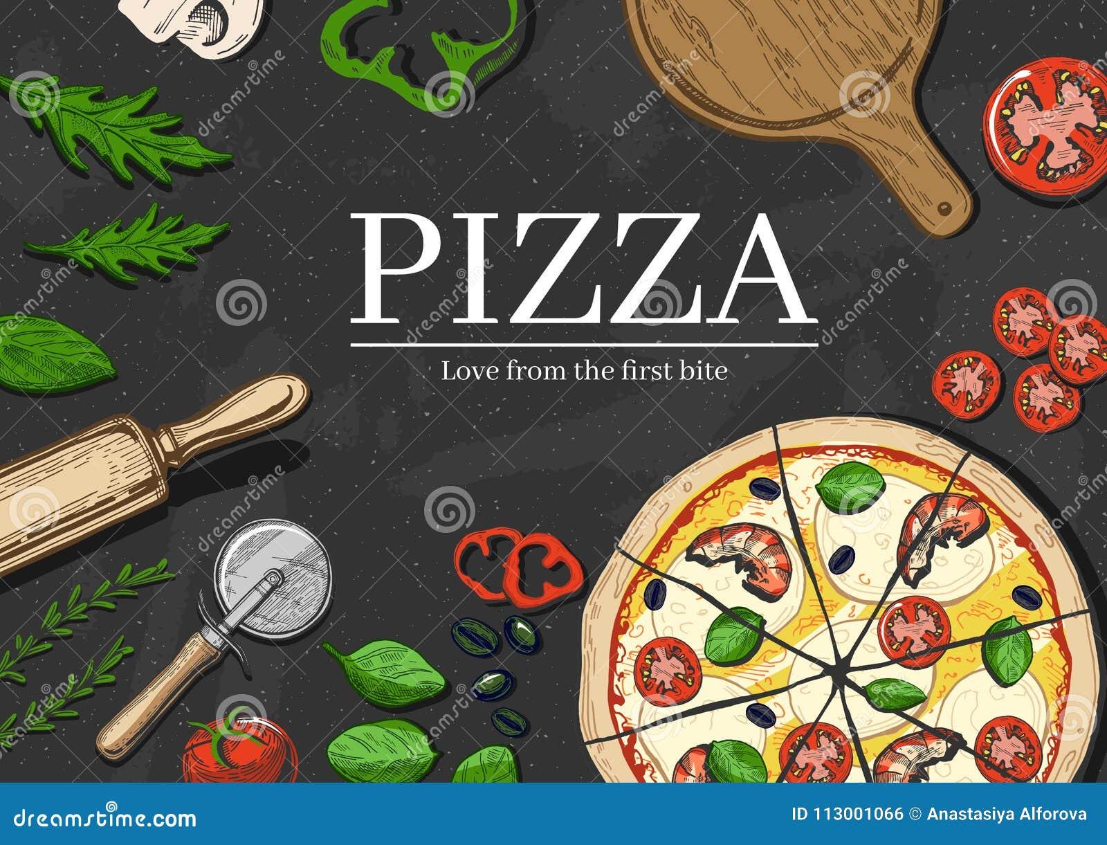 Pizza que cocina el fondo