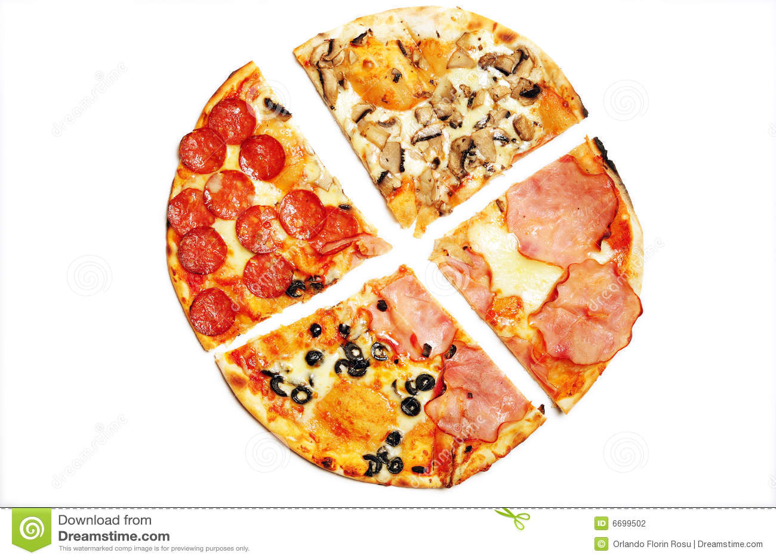 Pizza rebanada fotograf a de archivo imagen 6699502 for En 3 pizzas te olvido