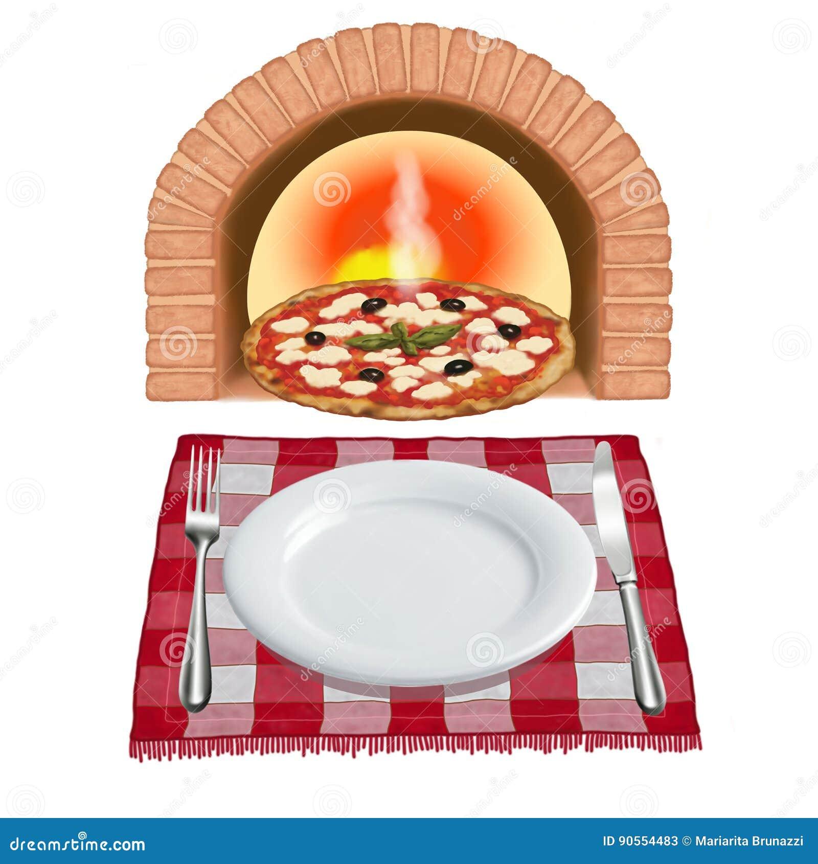 Pizza recientemente cocida al horno