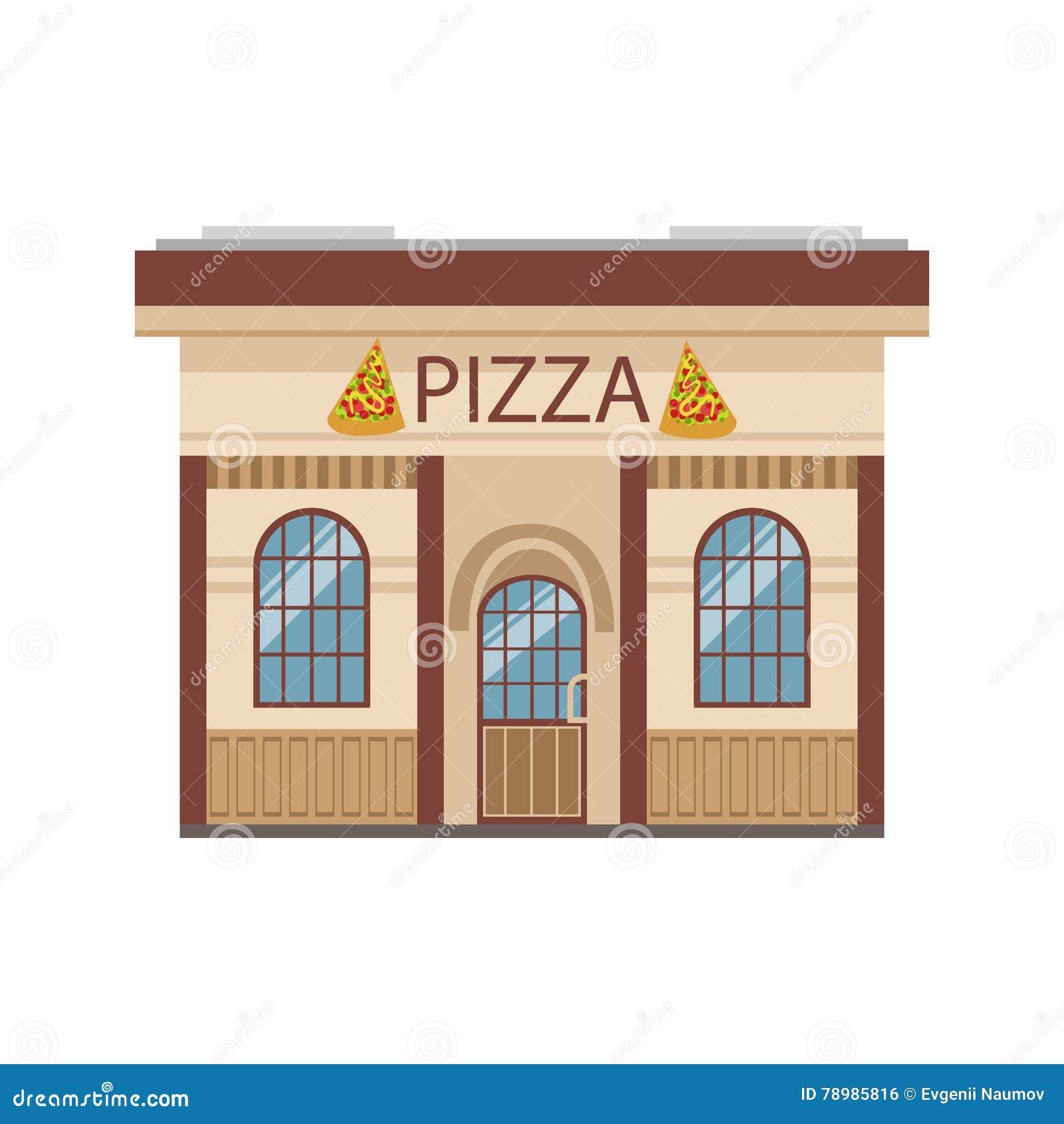 Building cartoon clipart restaurant building and restaurant building - Royalty Free Vector Download Pizza Restaurant Commercial Building