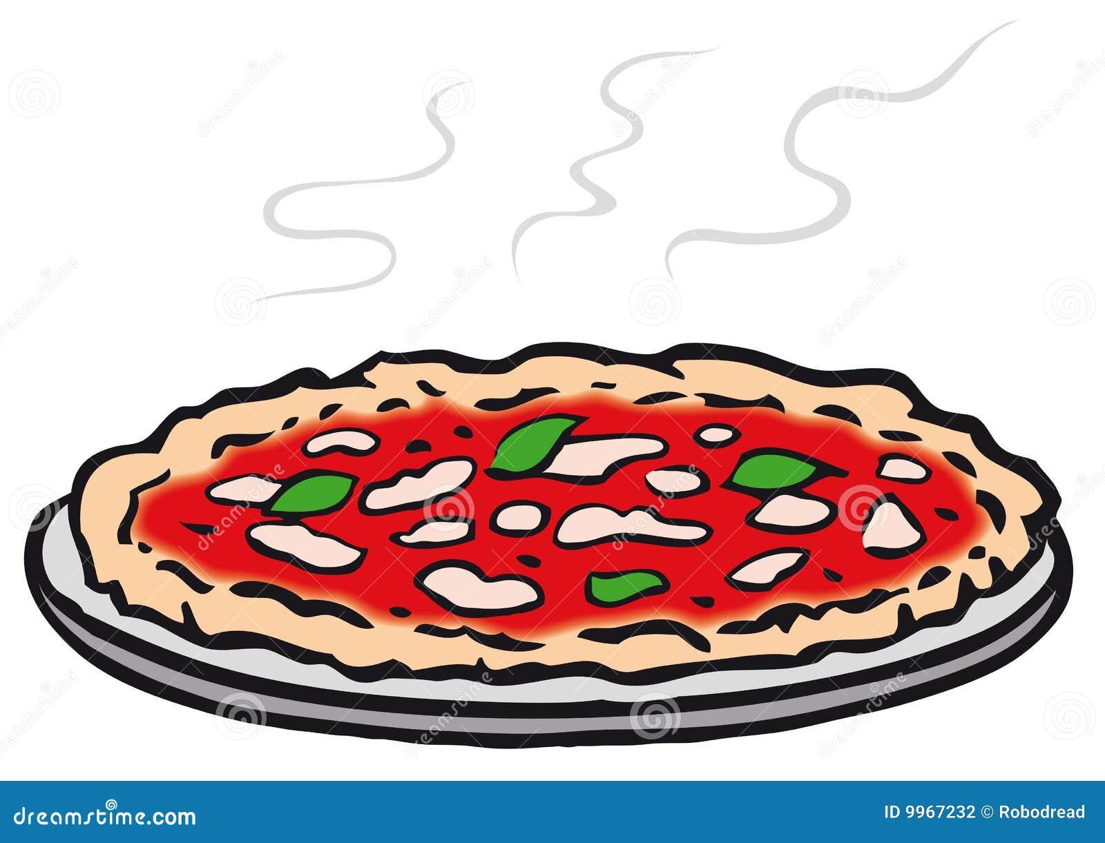 Pizza Rotonda (vettore) Fotografia Stock - Immagine: 9967232