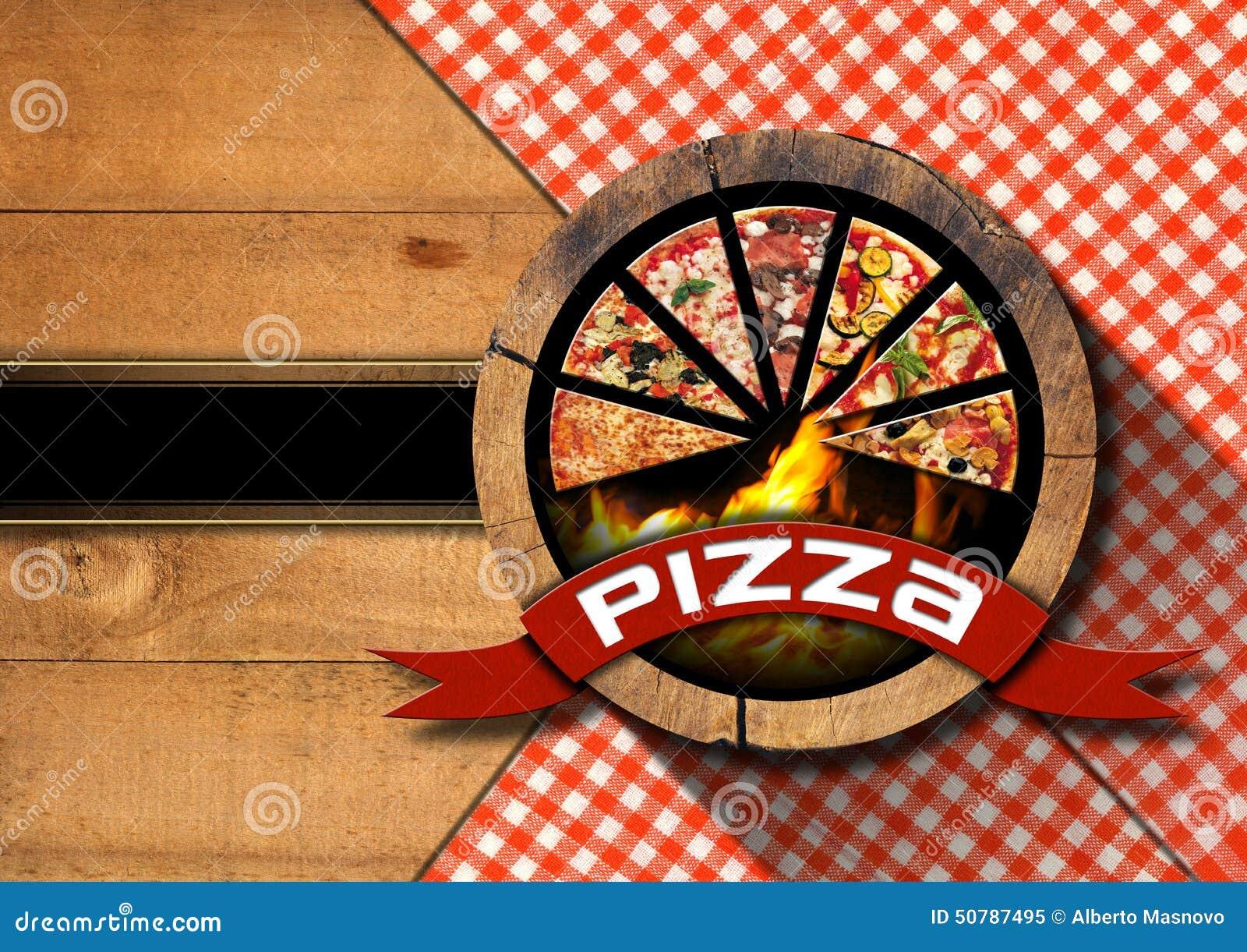 Pizza - Rustic Menu Design Stock Illustration - Image ...
