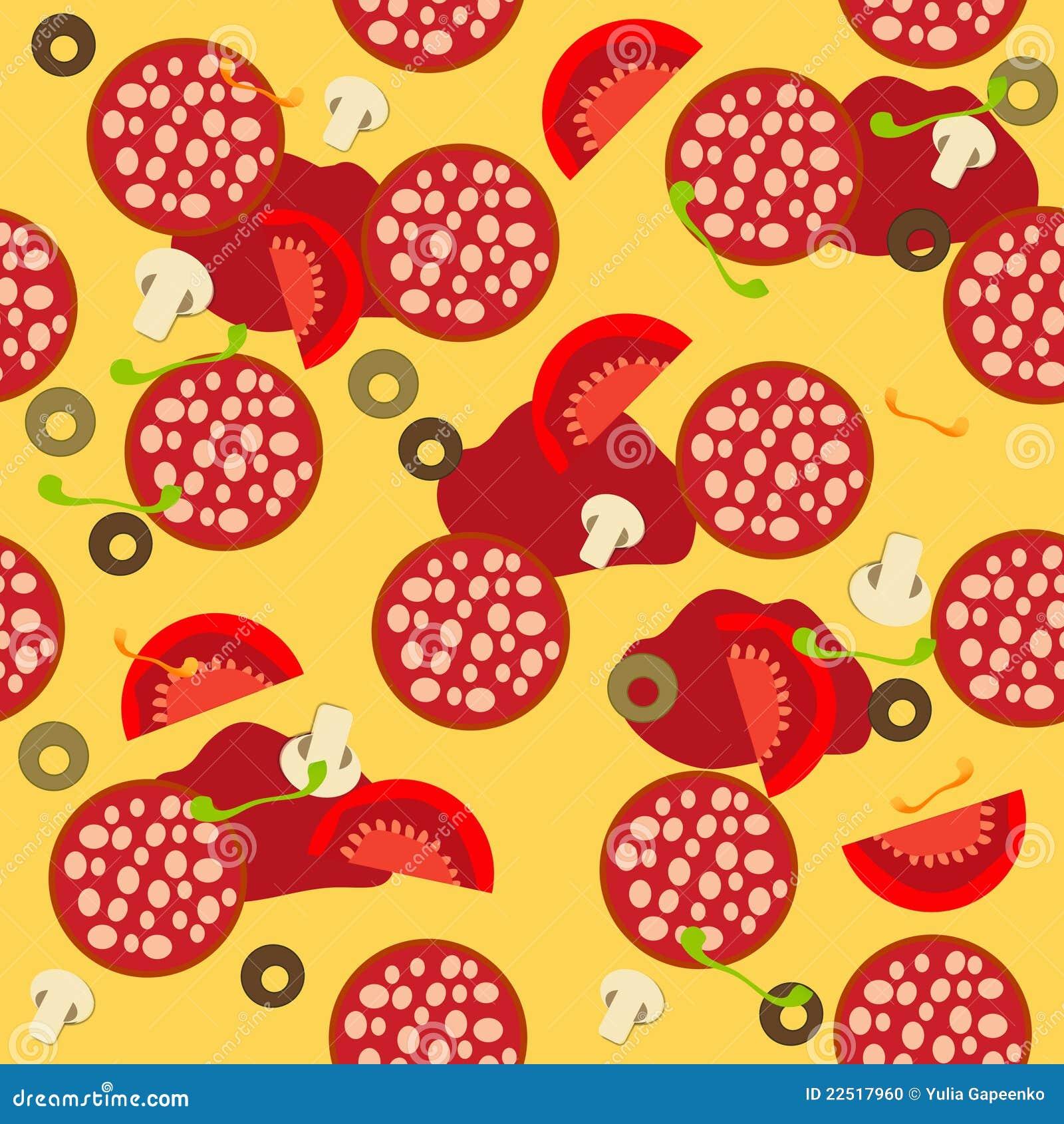 pizza seamless pattern  stock vector  illustration of