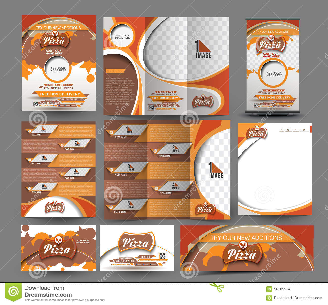 Pizza Shop Business Stationery