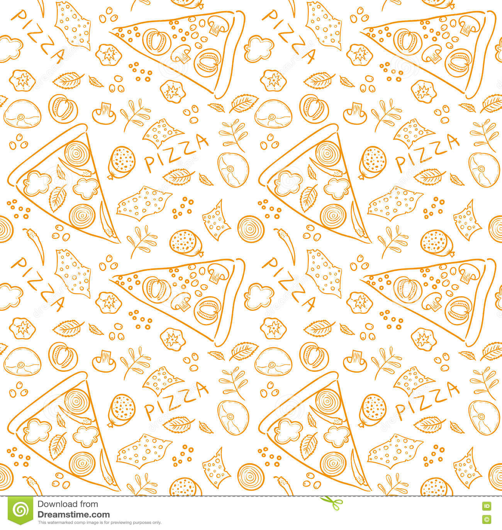 pizza sketch ingredients