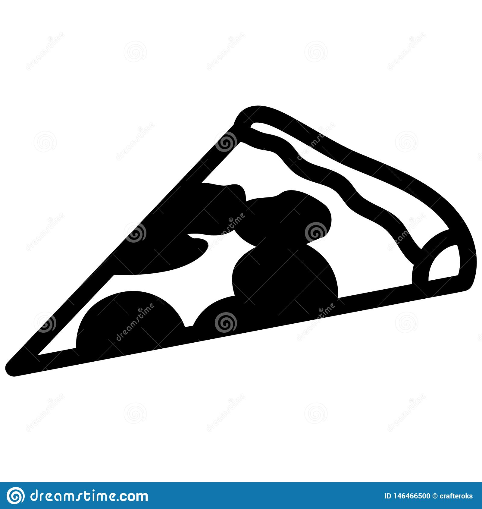 Pizza slice vector eps Hand drawn, Vector, Eps, Logo, Icon, silhouette Illustration by crafteroks for different uses.