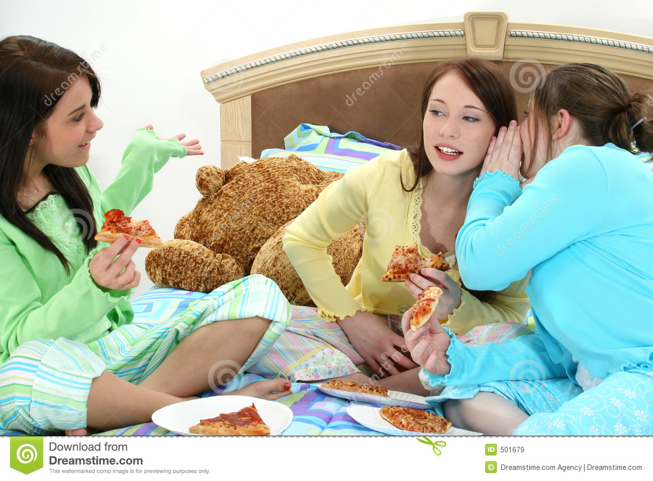 girls slumber party Young teen