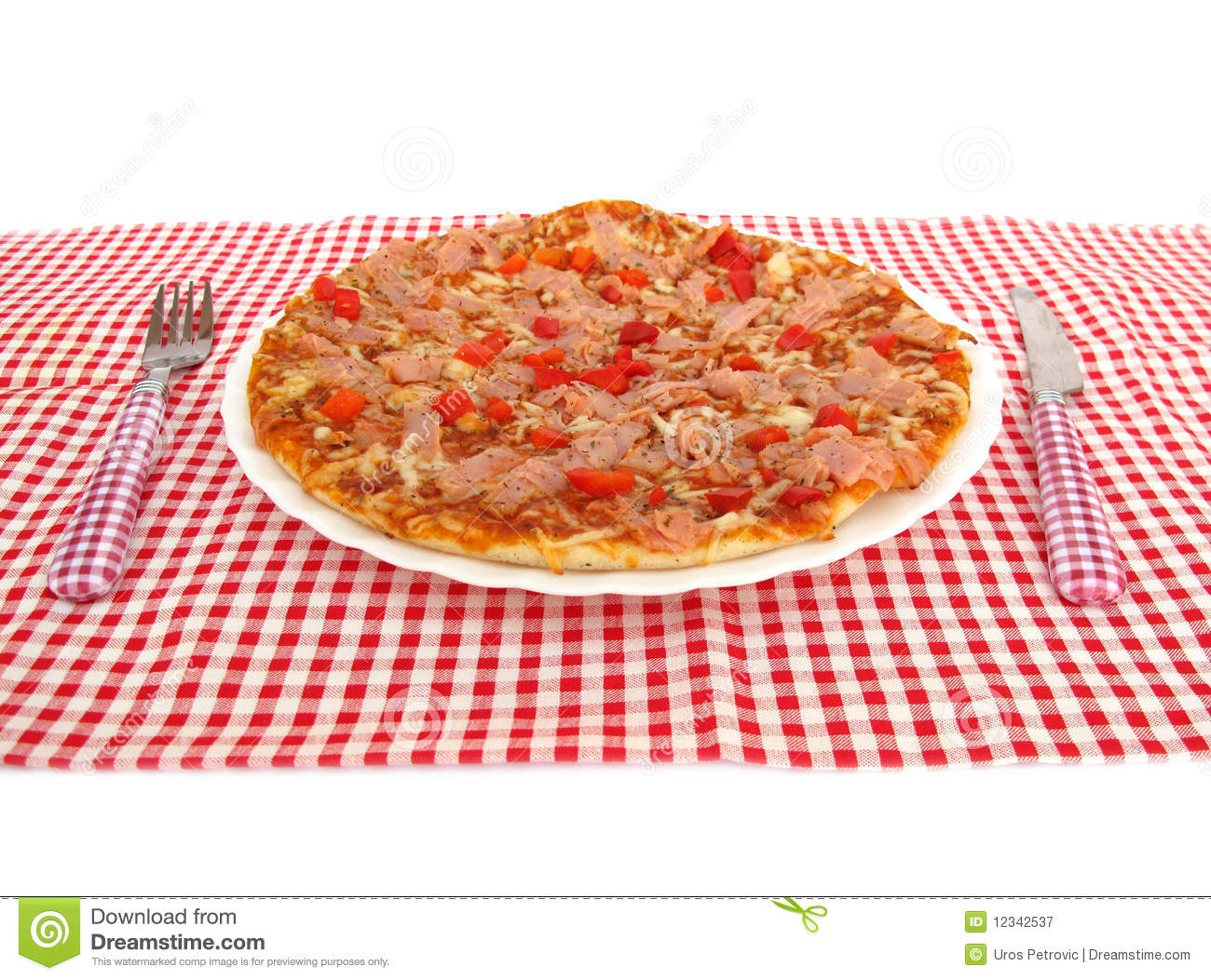 Pizza on table royalty free stock photography image for Table a pizza
